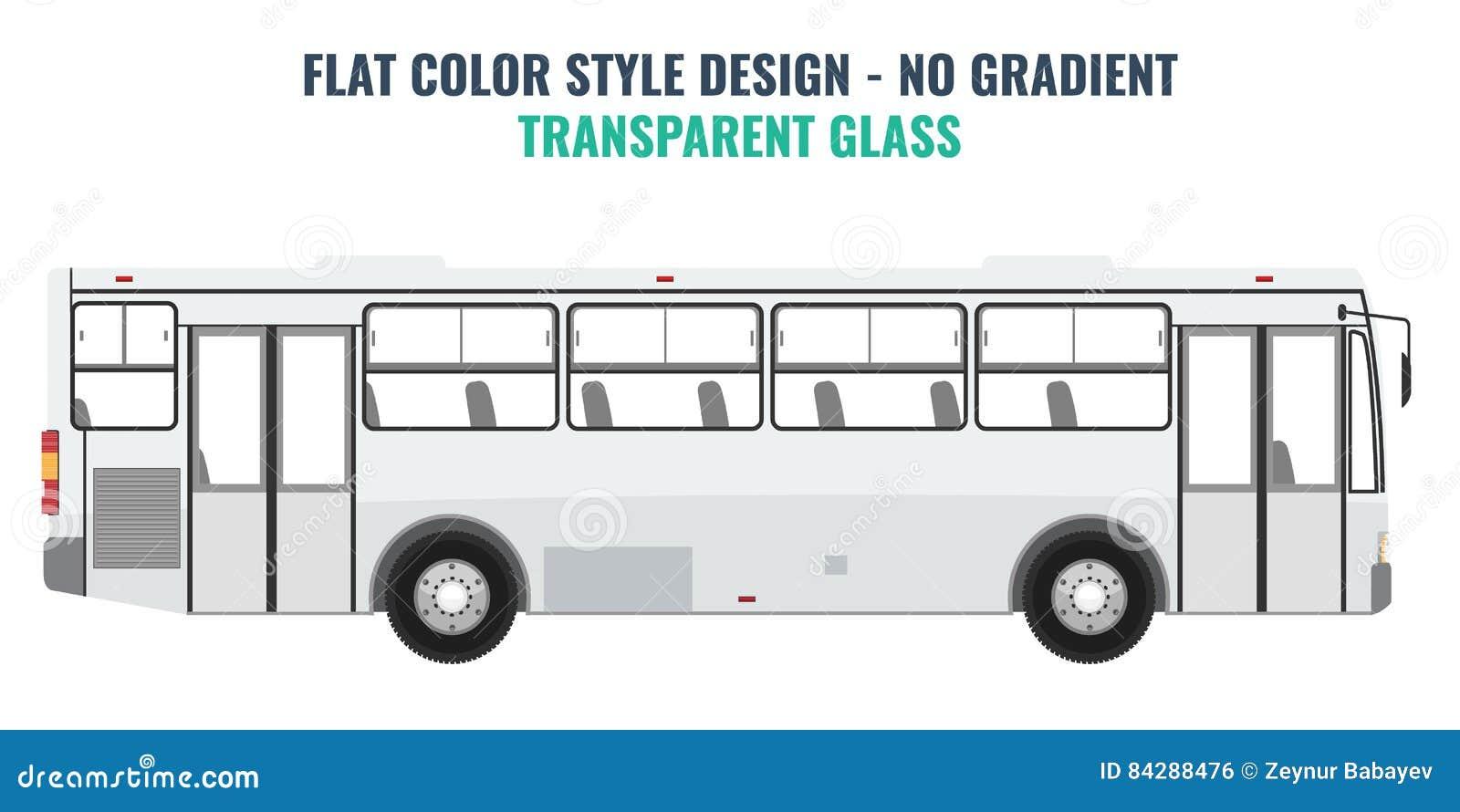 Plantilla Del Vector Del Autobús De La Ciudad Ilustración del Vector ...