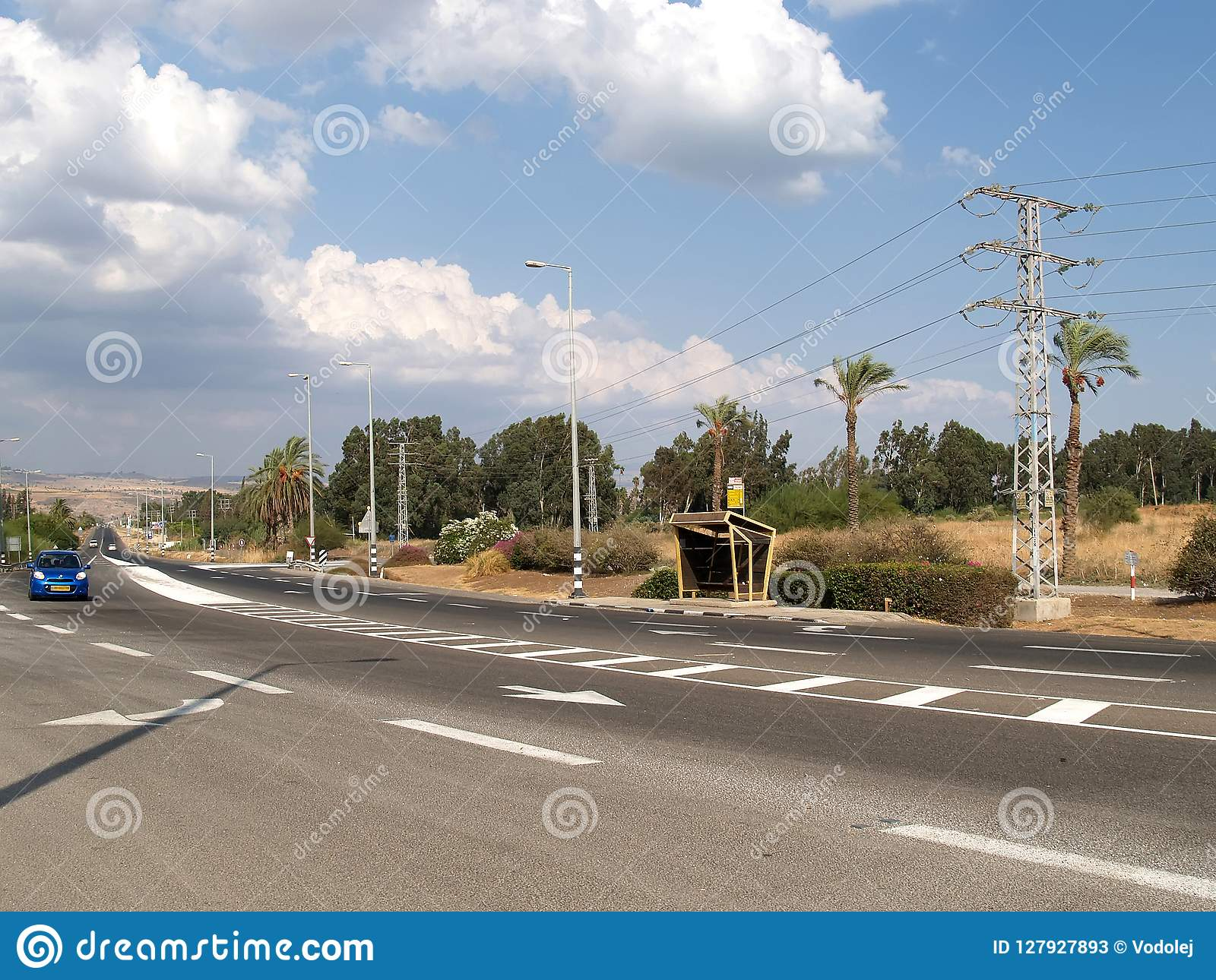 The autobahn in Galilee. Israel