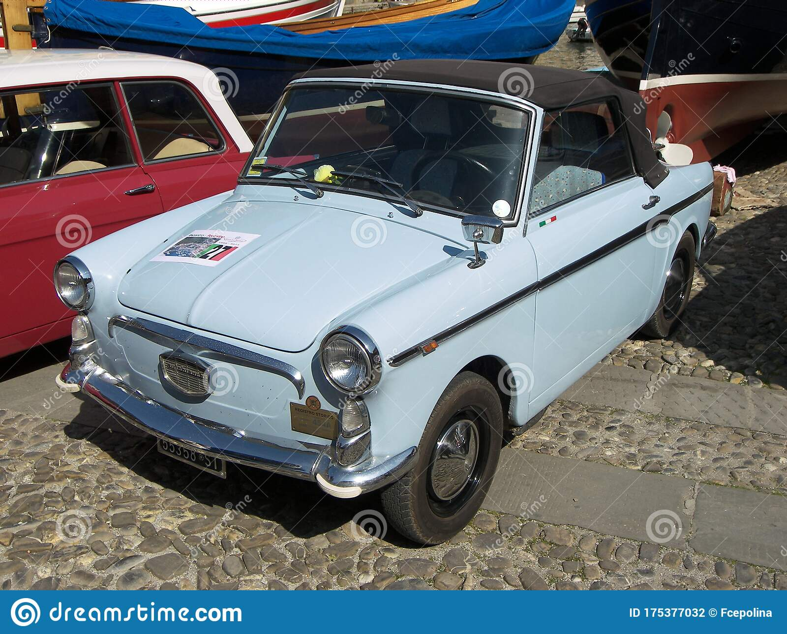Autobianchi Bianchina Light Blue Convertible Editorial Photography Image Of Cabrio Classic 175377032