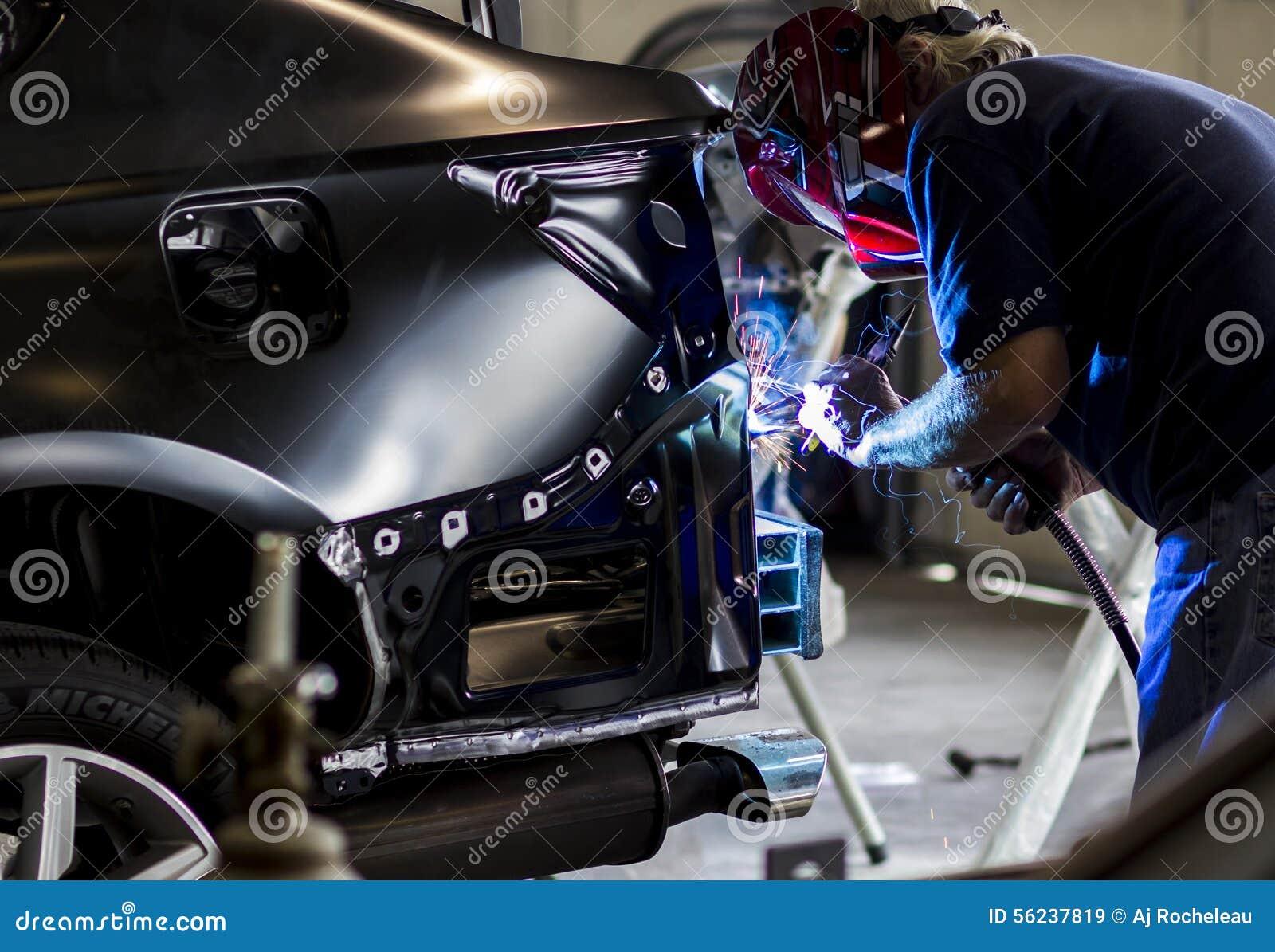 Autobody Technician welding