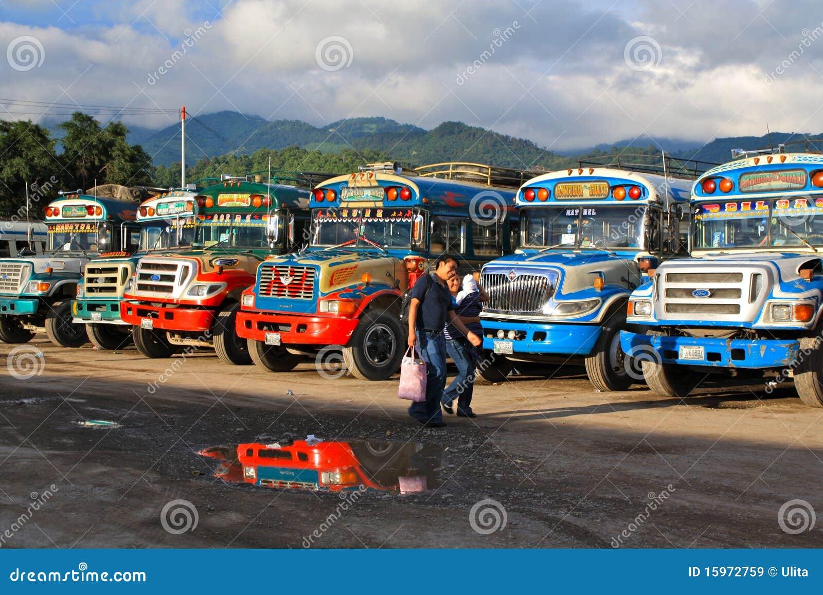 Autobusów kurczaka guatemalan