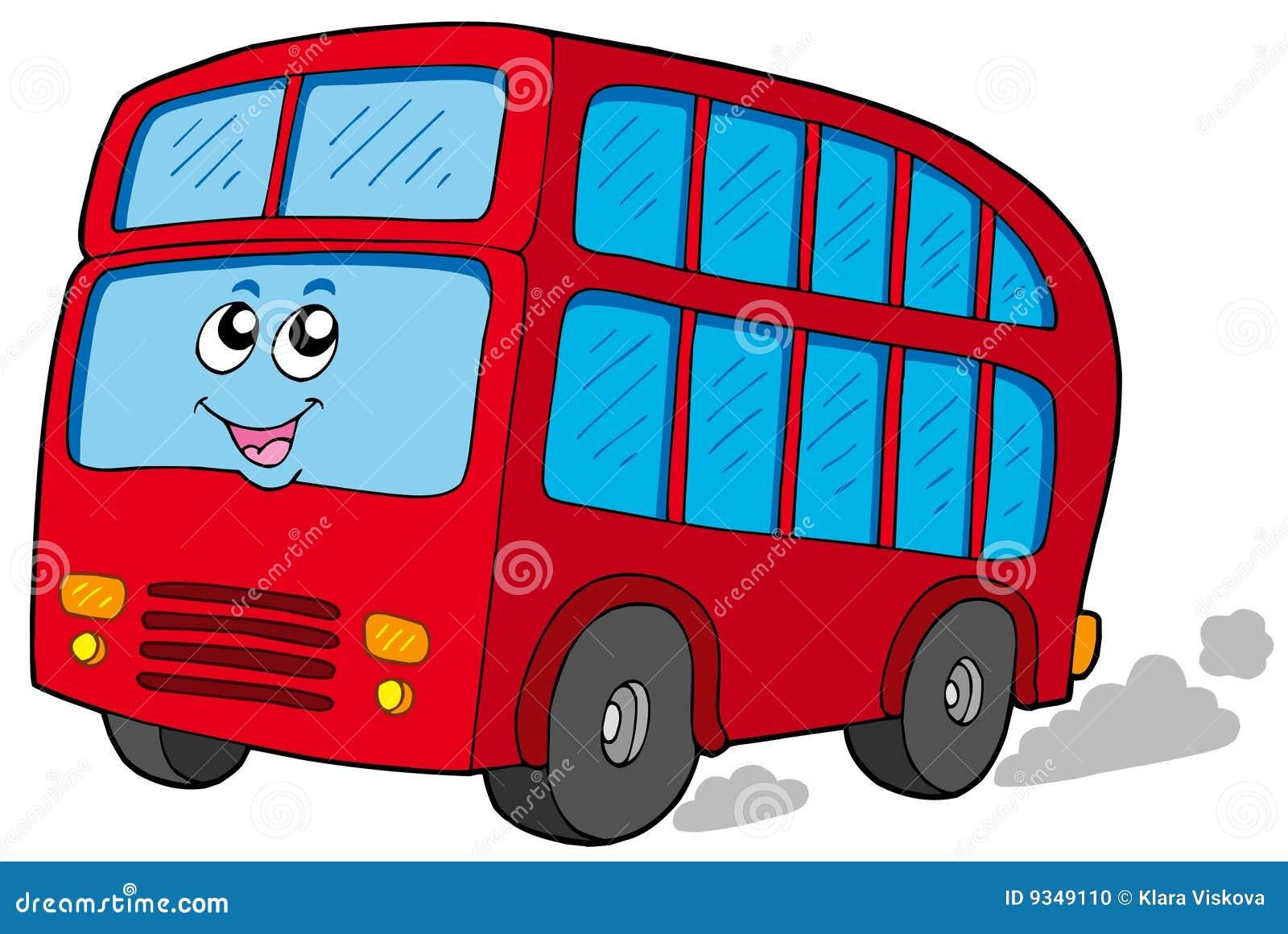 Autobus a due piani del fumetto illustrazione vettoriale for Prezzi del garage a due piani