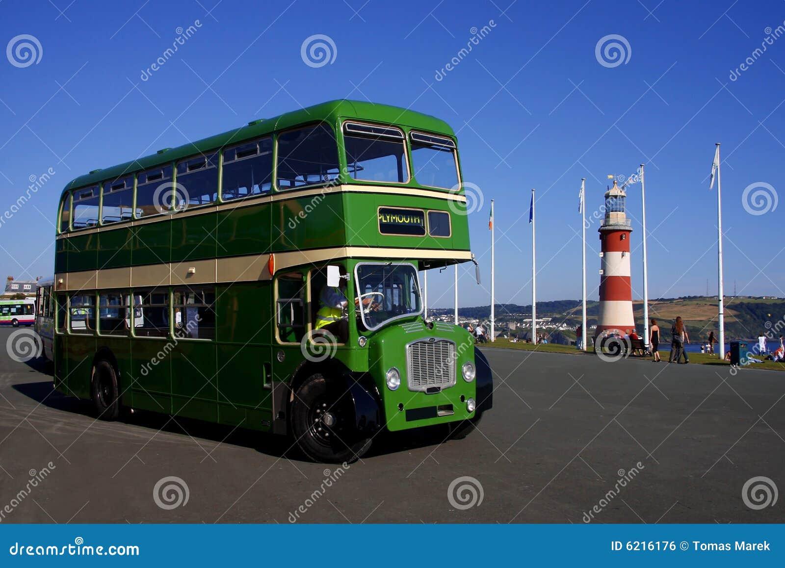 autobus a due piani plymouth inghilterra regno unito