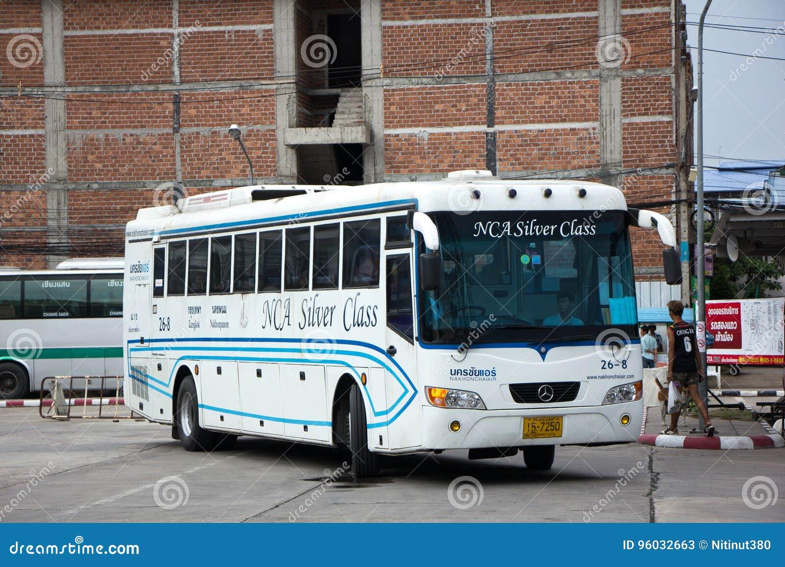 Autobus Nakhonchai powietrze Trasa Bangkok i Nakhonpanom
