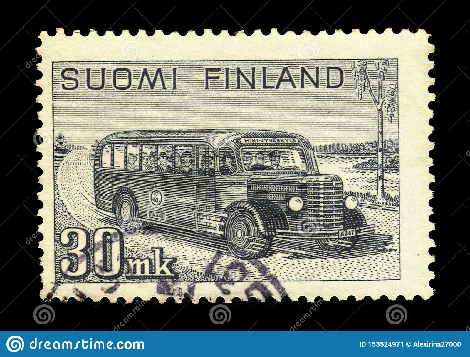 Autobus postal interurbain, Finlande