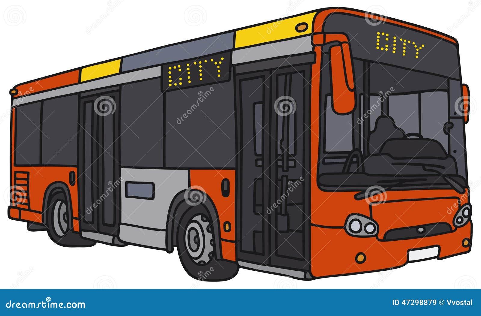 Autobus rouge de ville