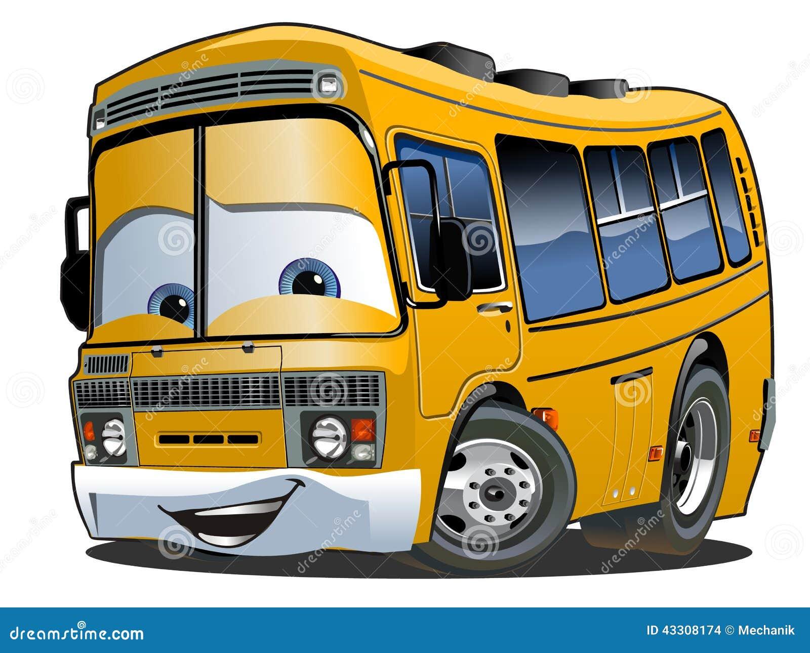 Autobus scolaire de bande dessin e illustration de vecteur - Autobus scolaire dessin ...