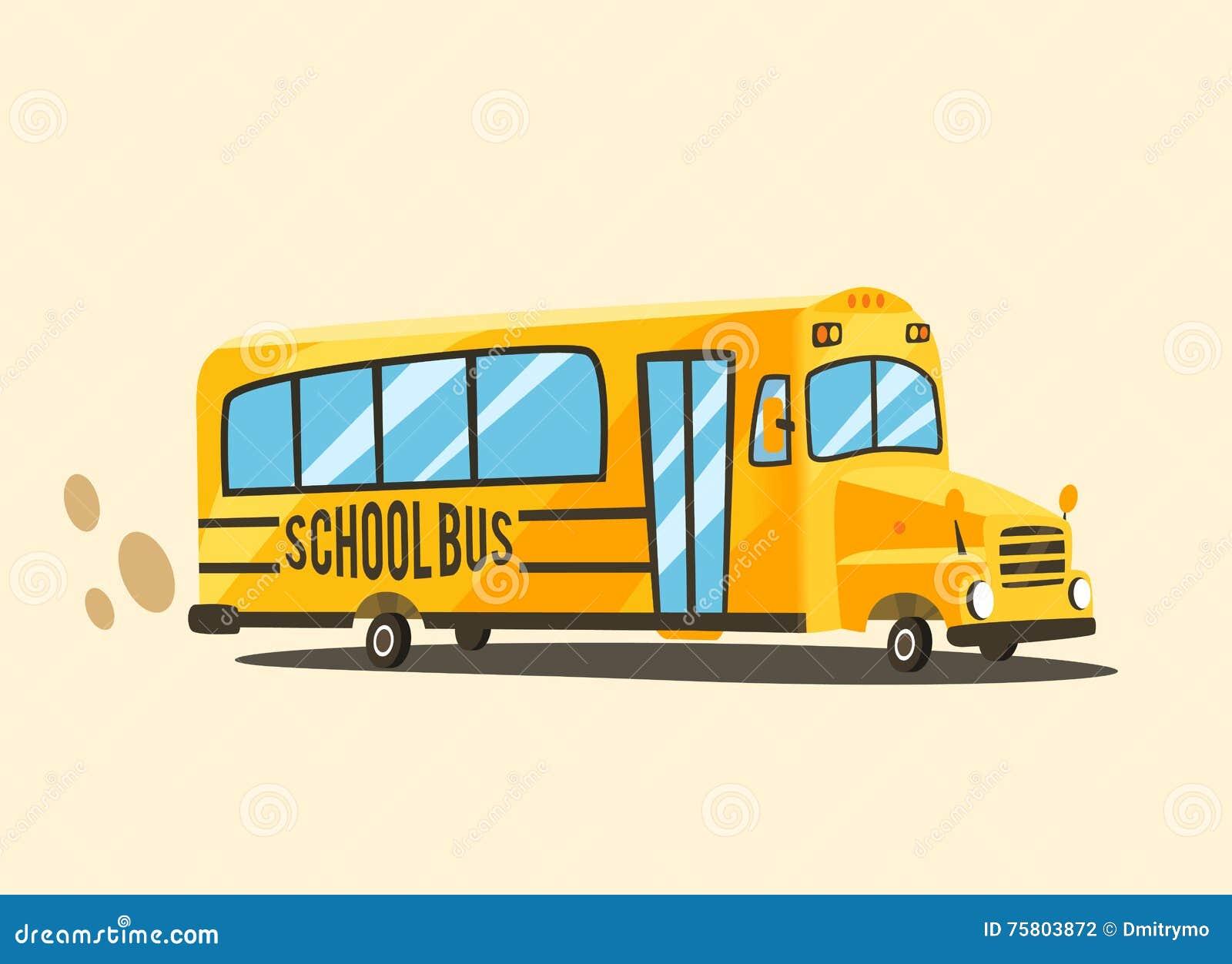 Autobus Scolaire Jaune De Cru Illustration De Vecteur De