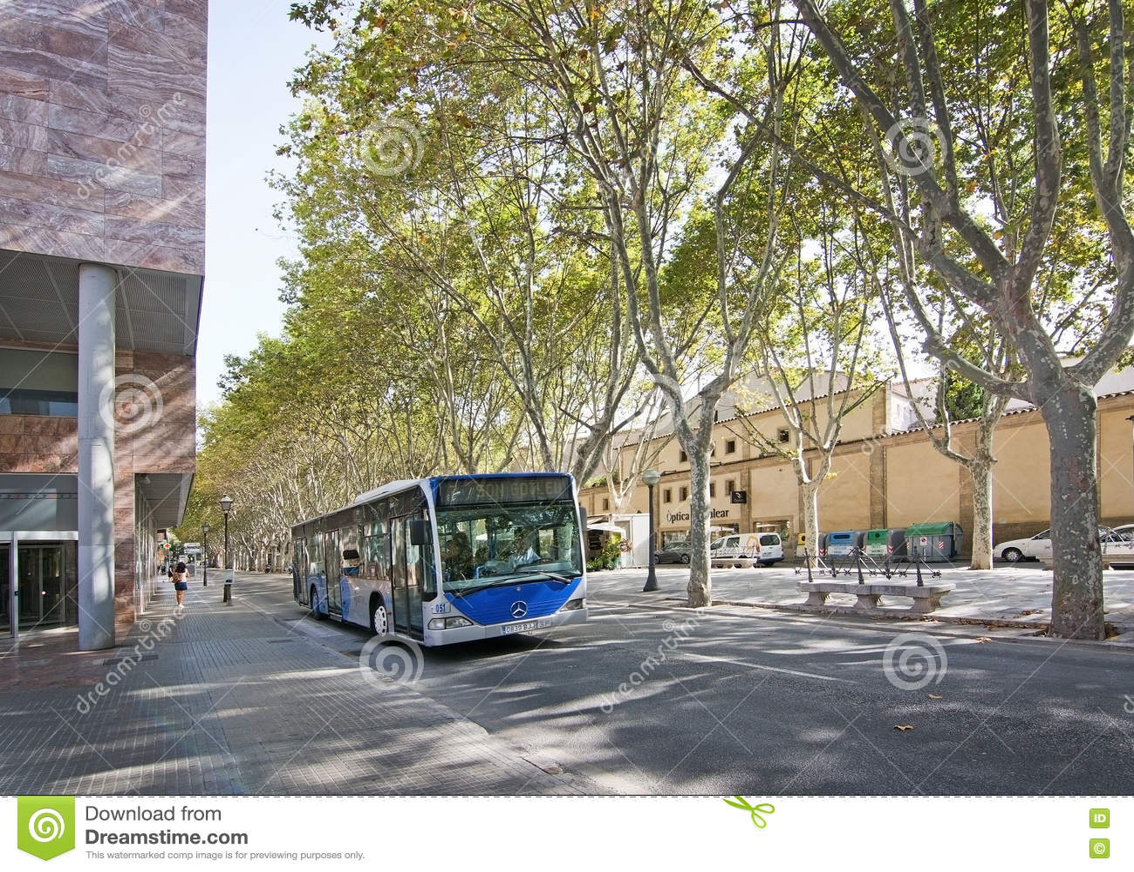 Autobus sur la La Rambla