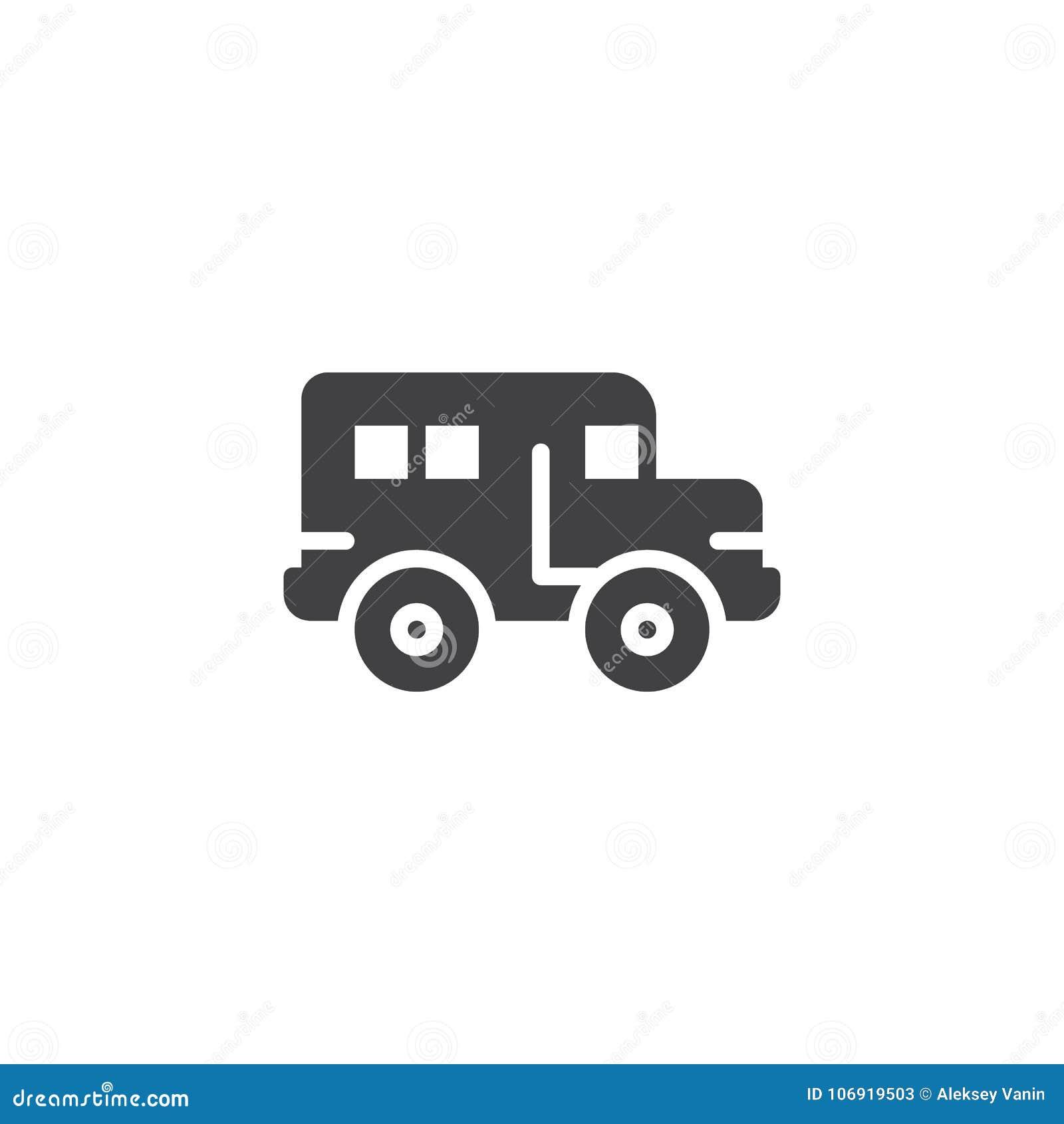 Autobus szkolny ikony wektor