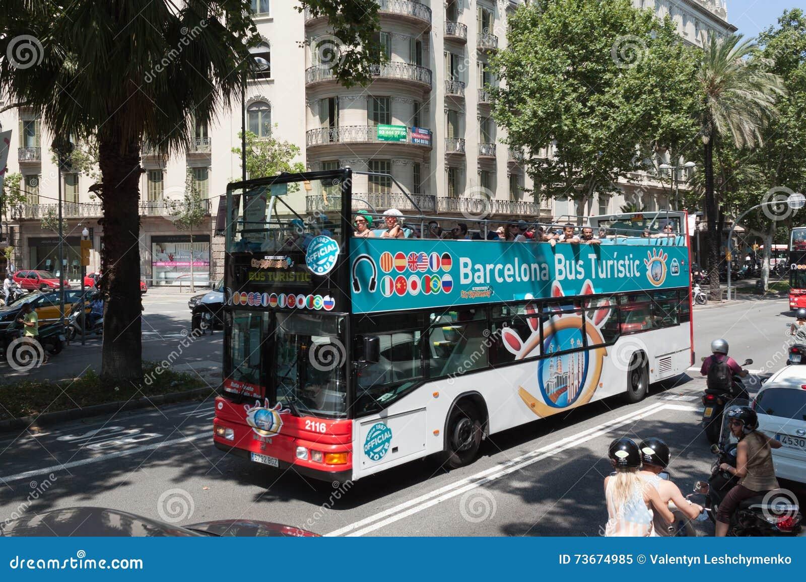 Autobus Touristik sur les rues de Barcelone