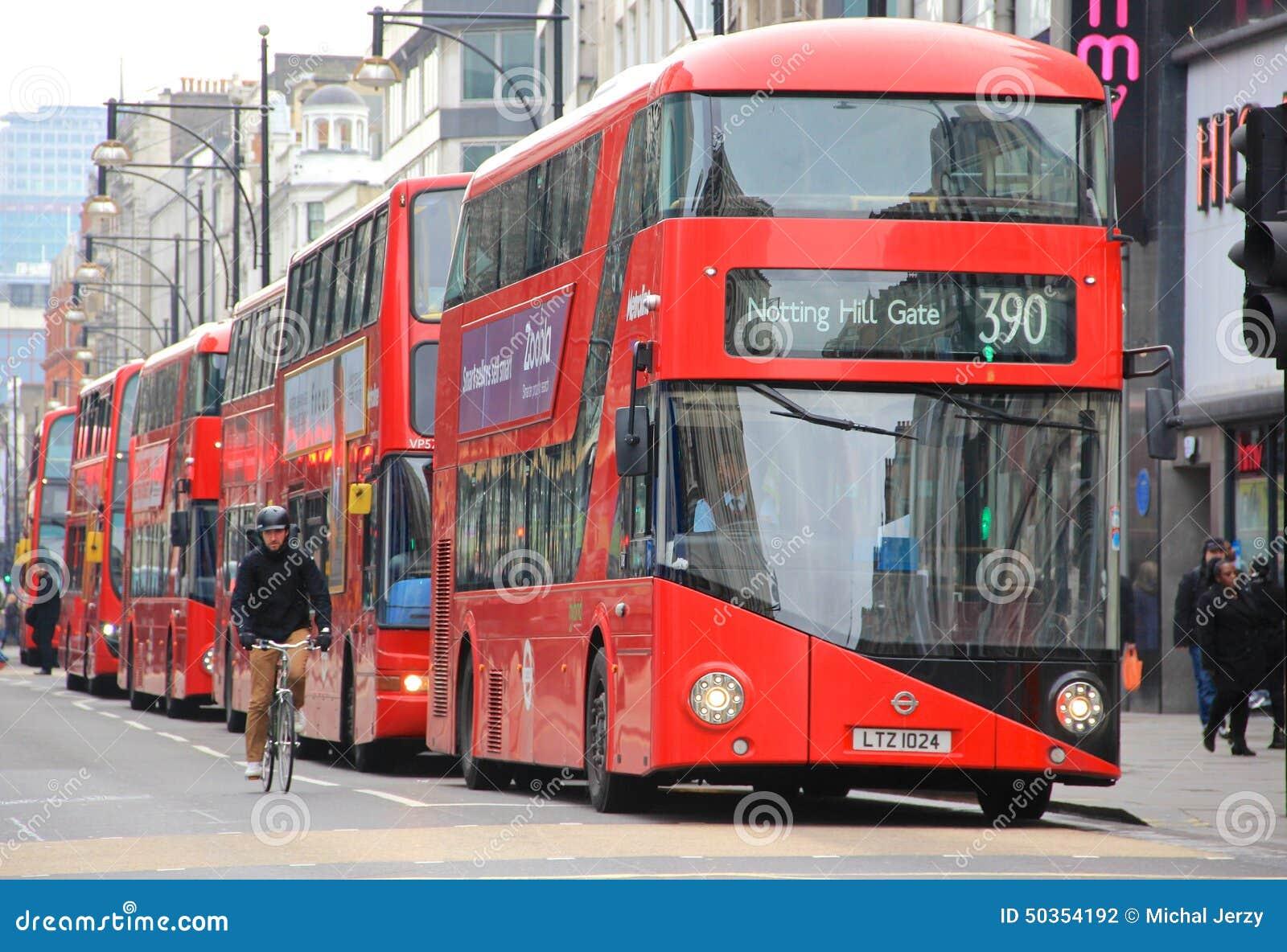 Autobuses rojos del autob s de dos pisos de londres fotograf a editorial imagen de dise o - Autobuses de dos pisos ...