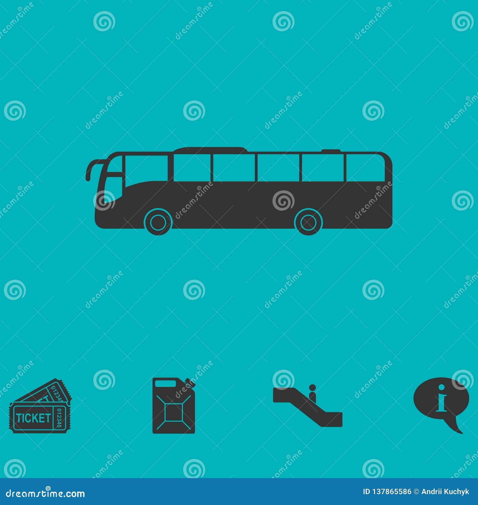 Autobusowy ikony mieszkanie