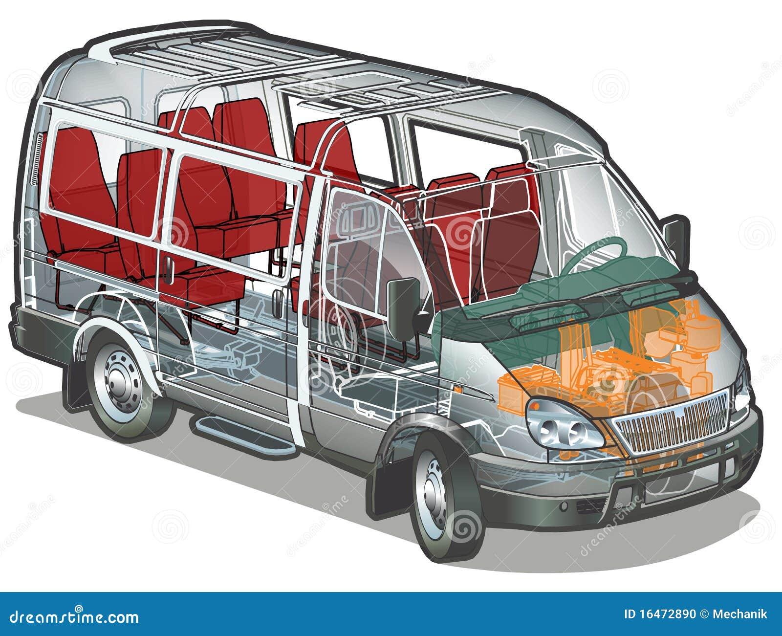 Autobusowy mini wektor