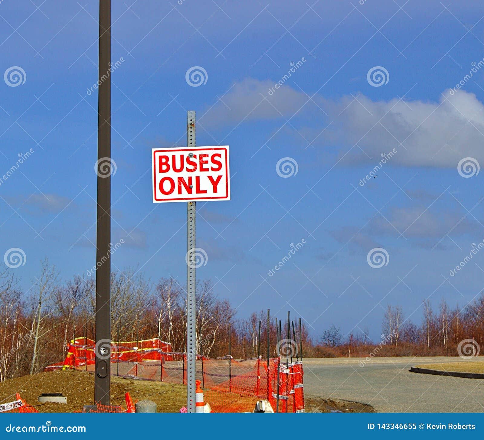 Autobusu tylko znak