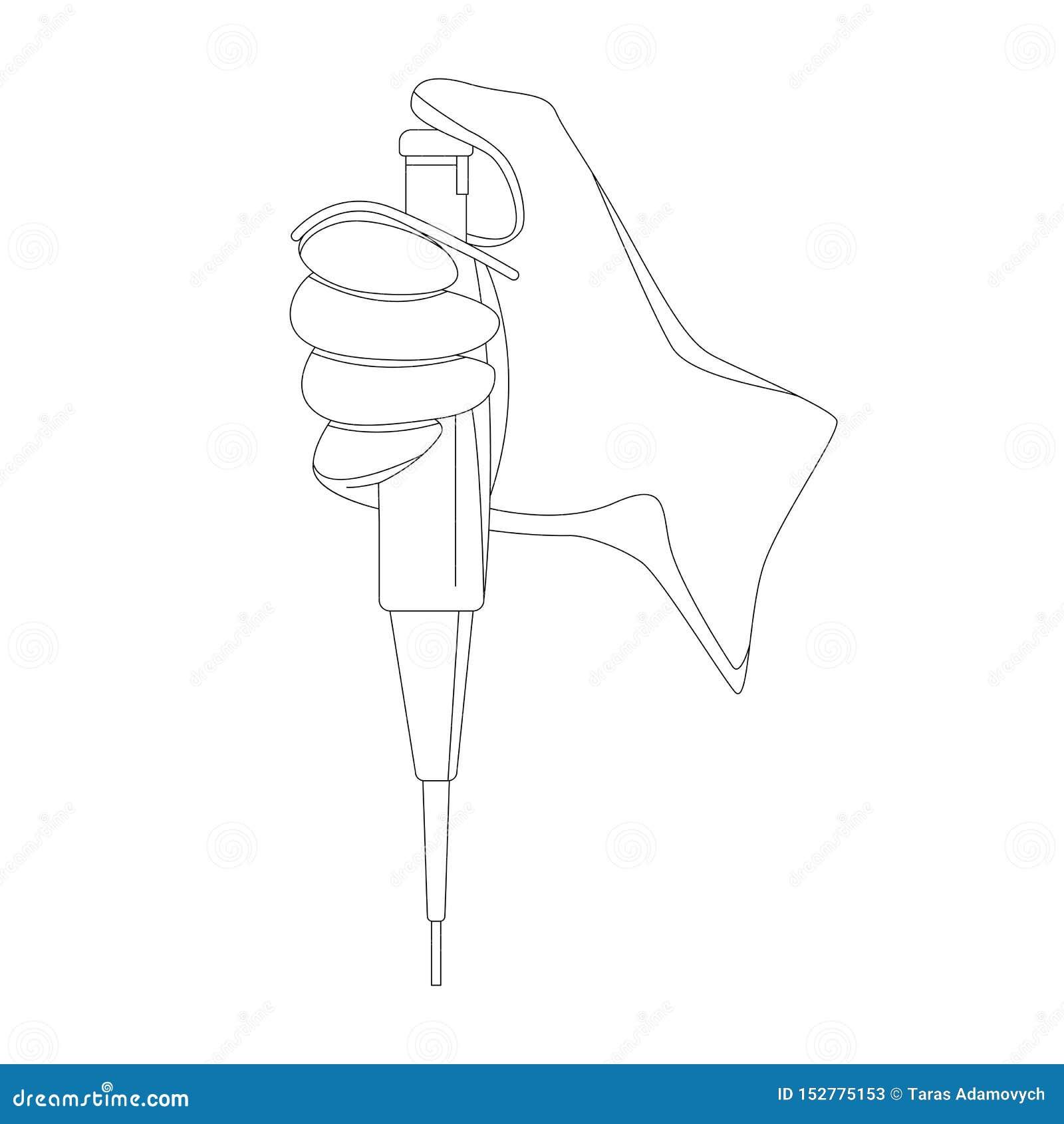 Autoclavable пипетка, иллюстрация вектора, выравниваясь