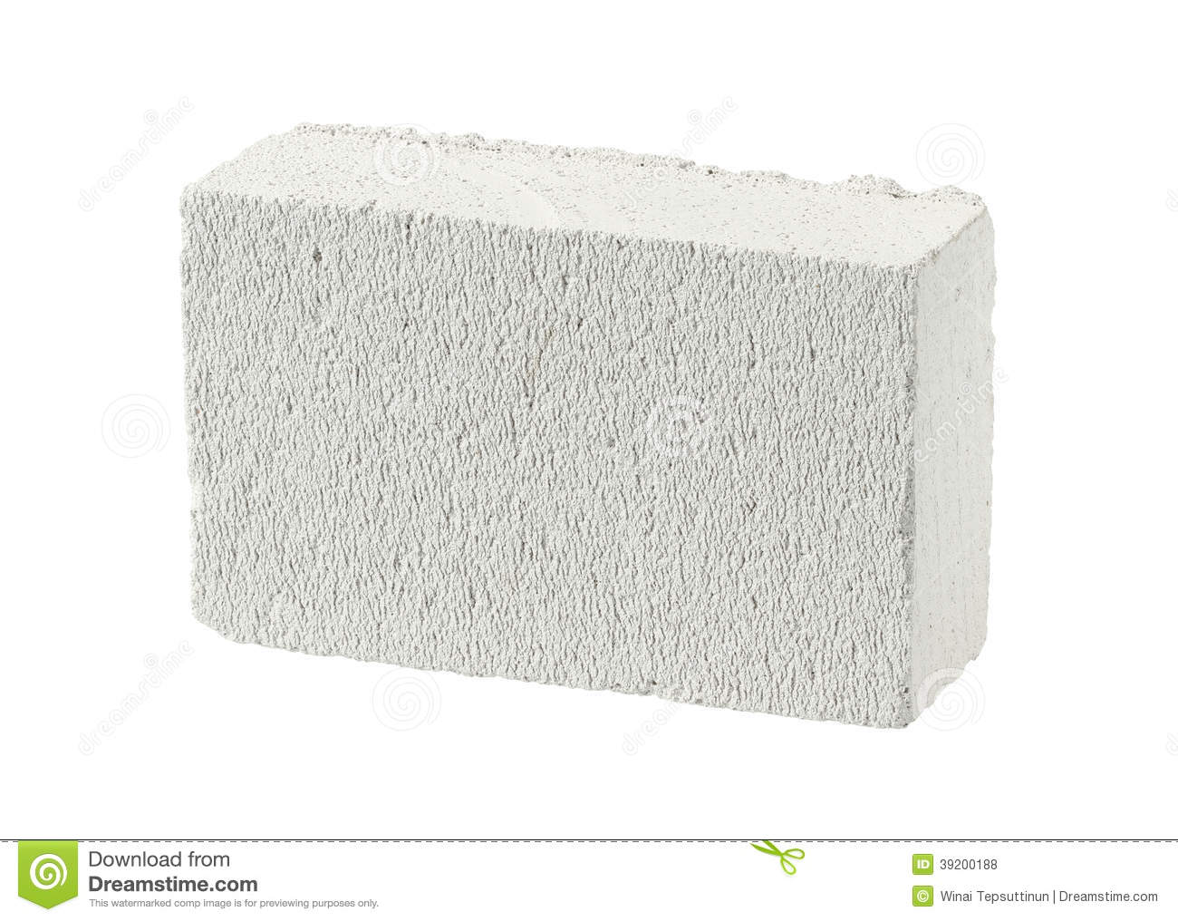 Autoclaved Aerated Concrete Block Stock Photo - Image: 39200188