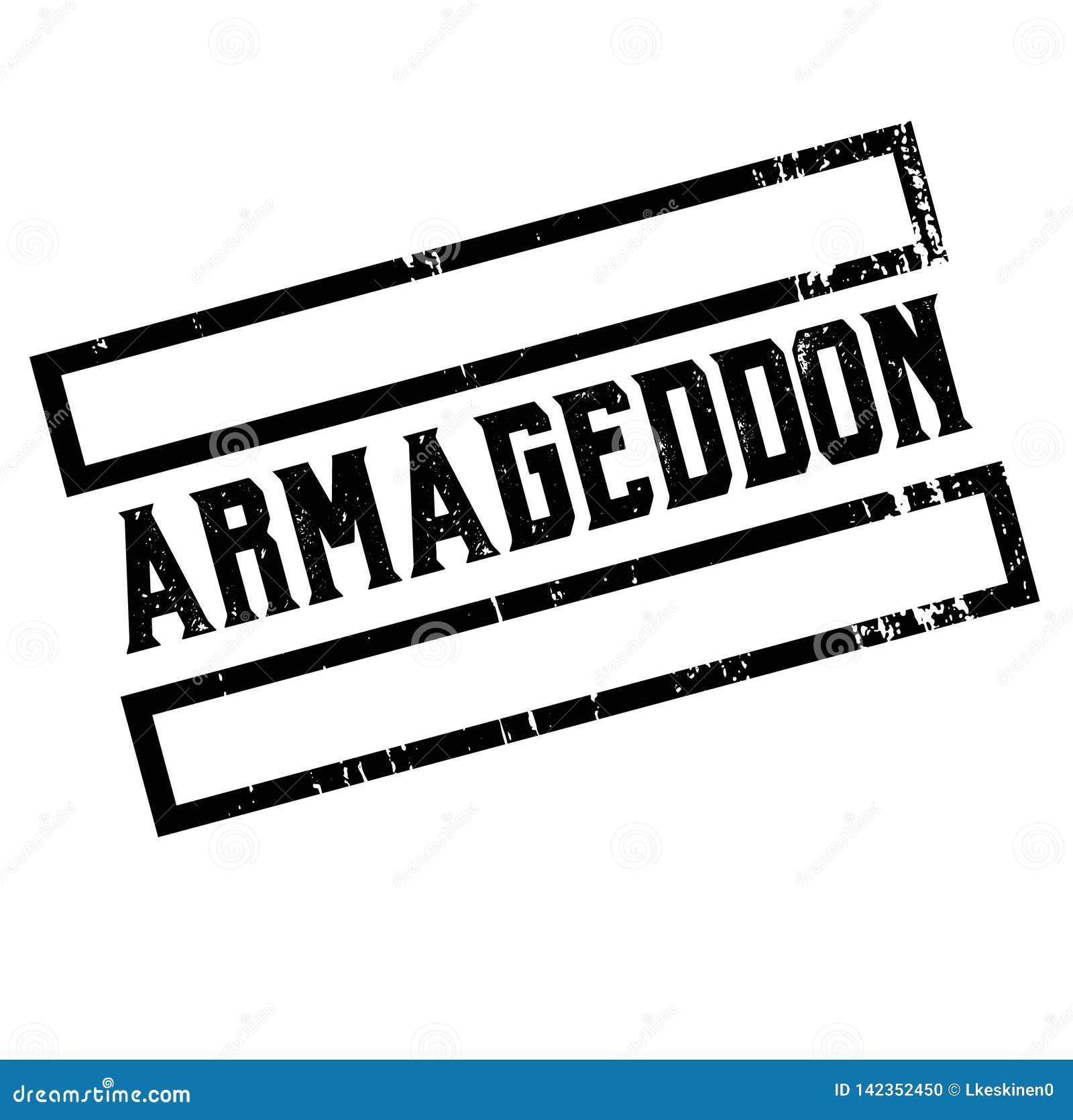 Autocollant de la publicité d Armageddon