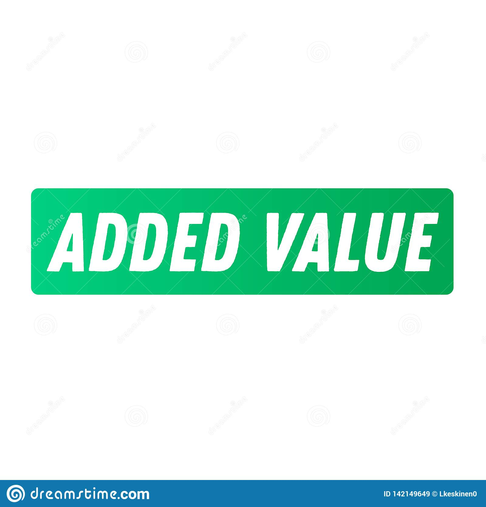 Autocollant de la publicité de valeur ajoutée