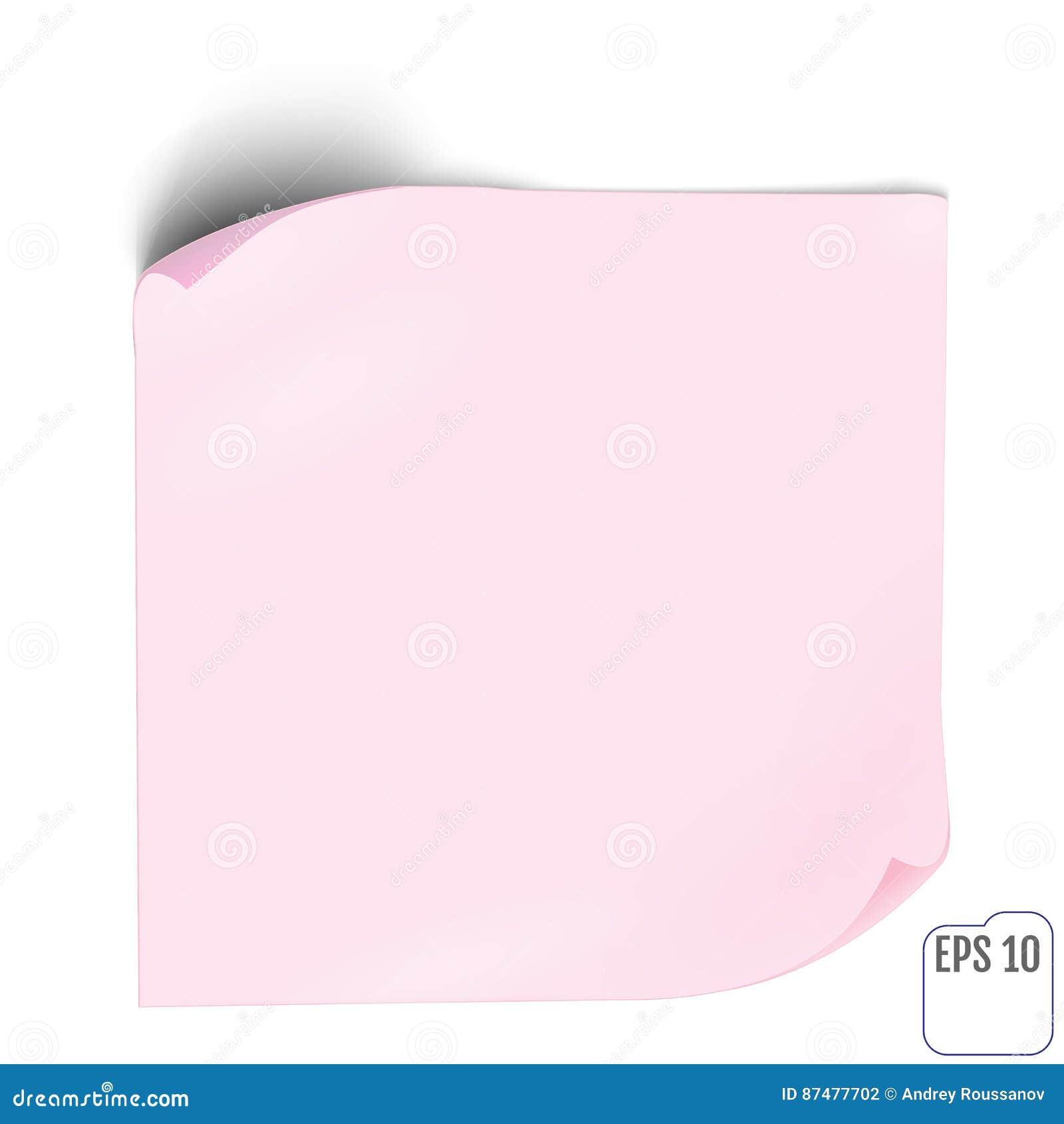 Autocollant de papier rose avec l ombre Bannière de Web ou label vide o de boucle