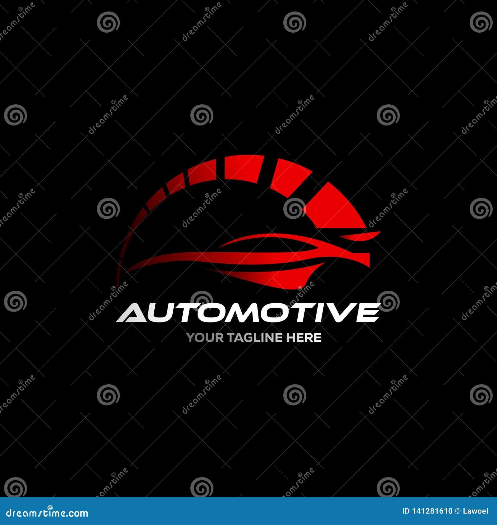 Autoembleem in de eenvoudige vector van de lijn grafische ontwerpsjabloon