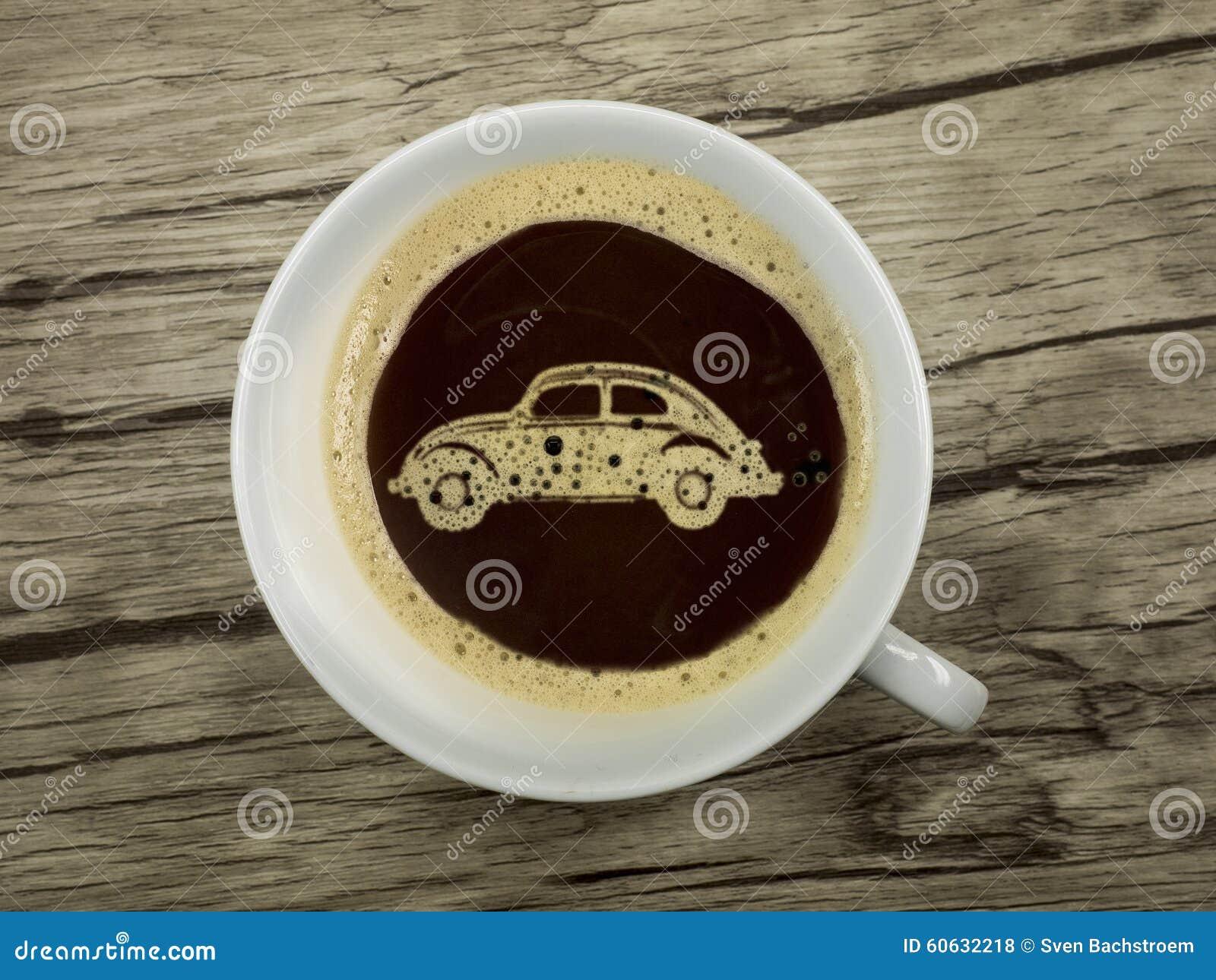 Autohändler bietet Kaffee an