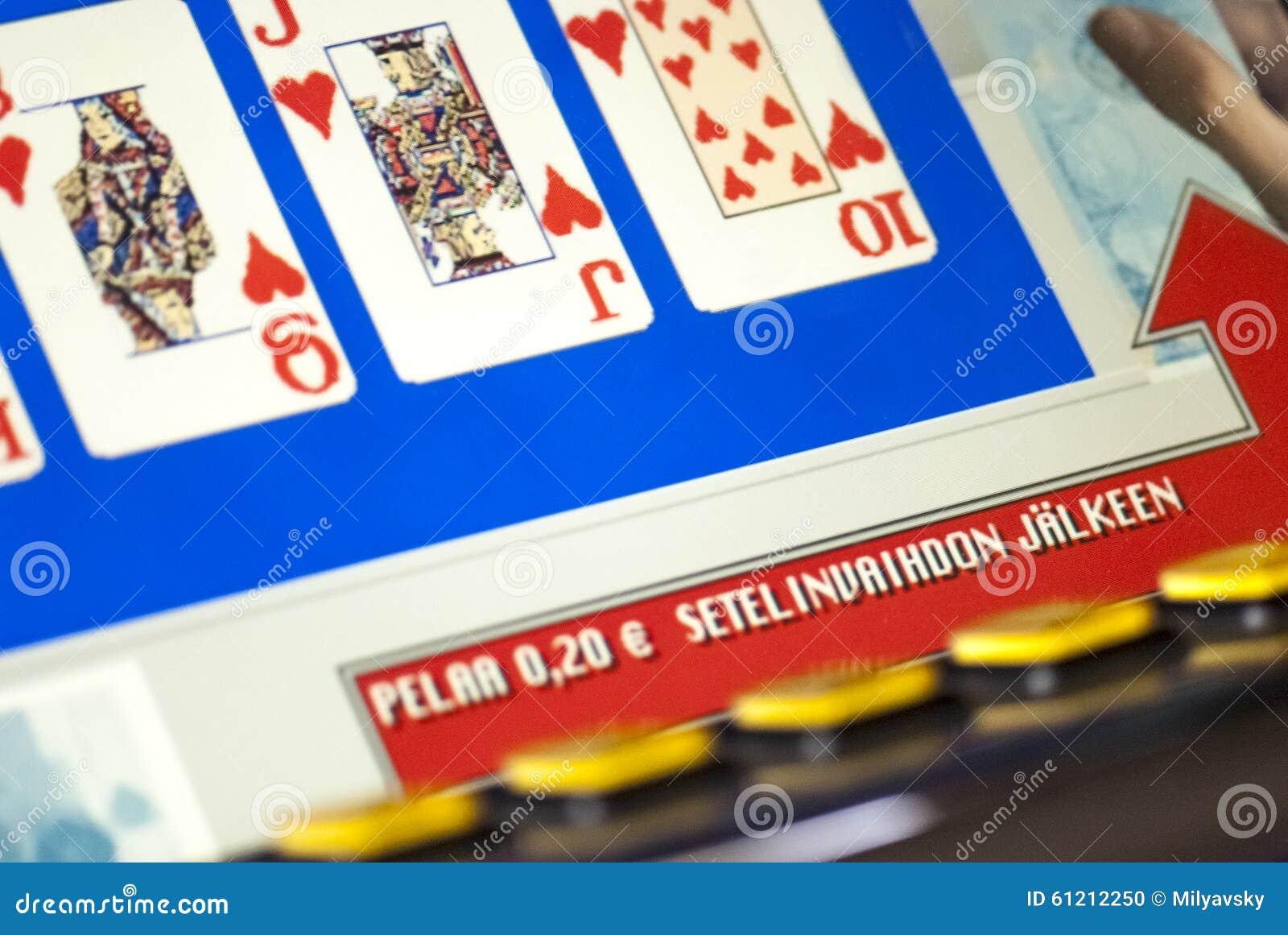 Automat do gier pokaz, karta do gry