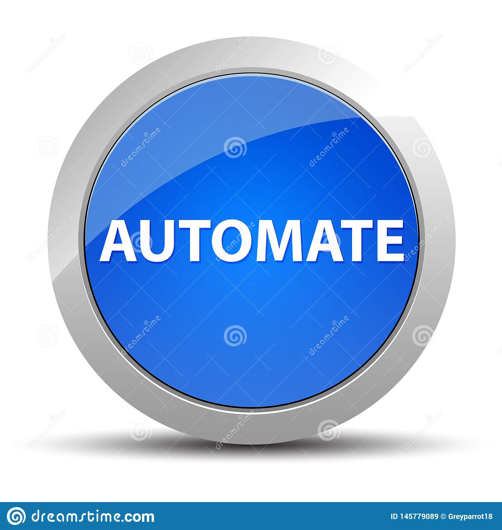 Automate blue round button