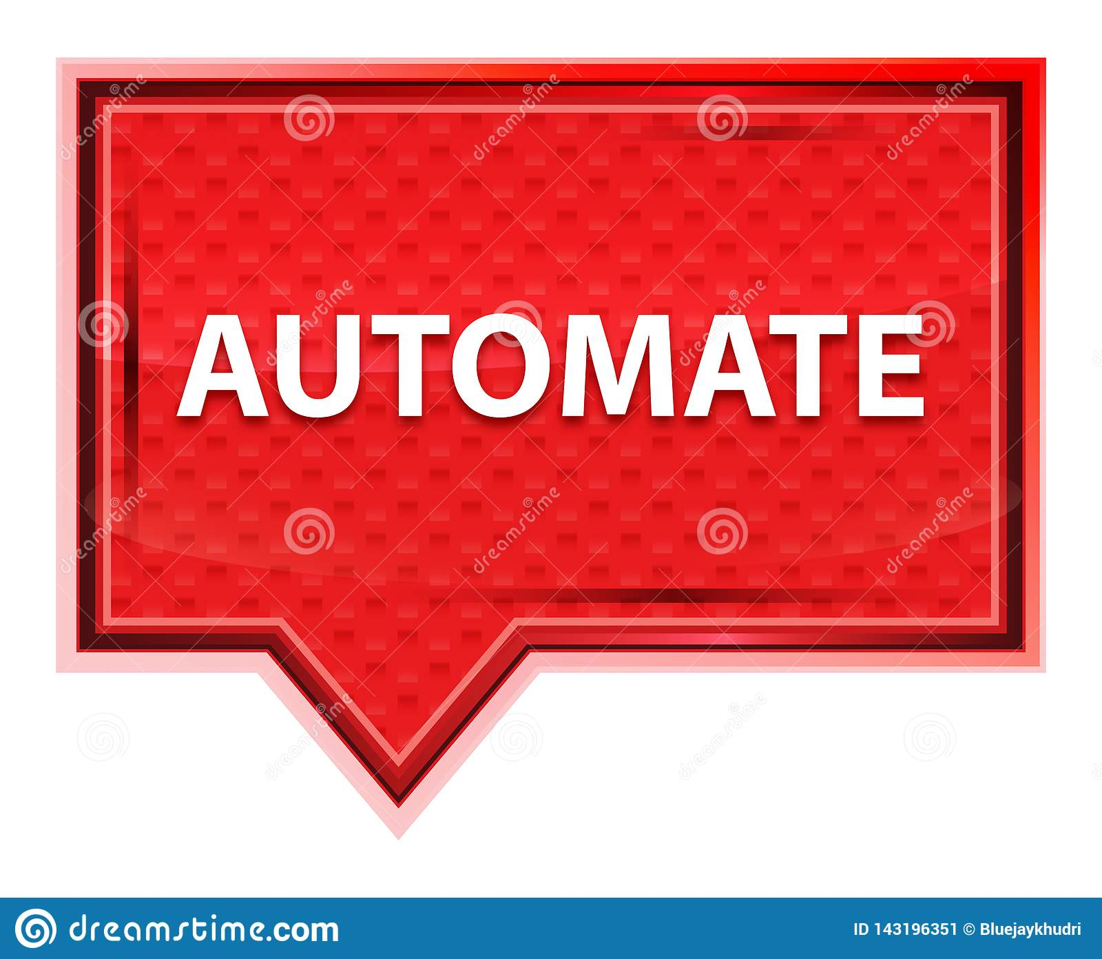 Automate misty rose pink banner button