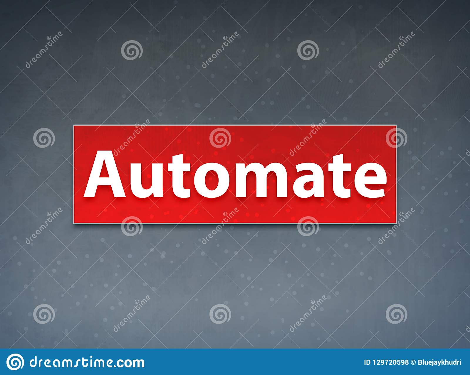 Automate Red Banner Abstract Background