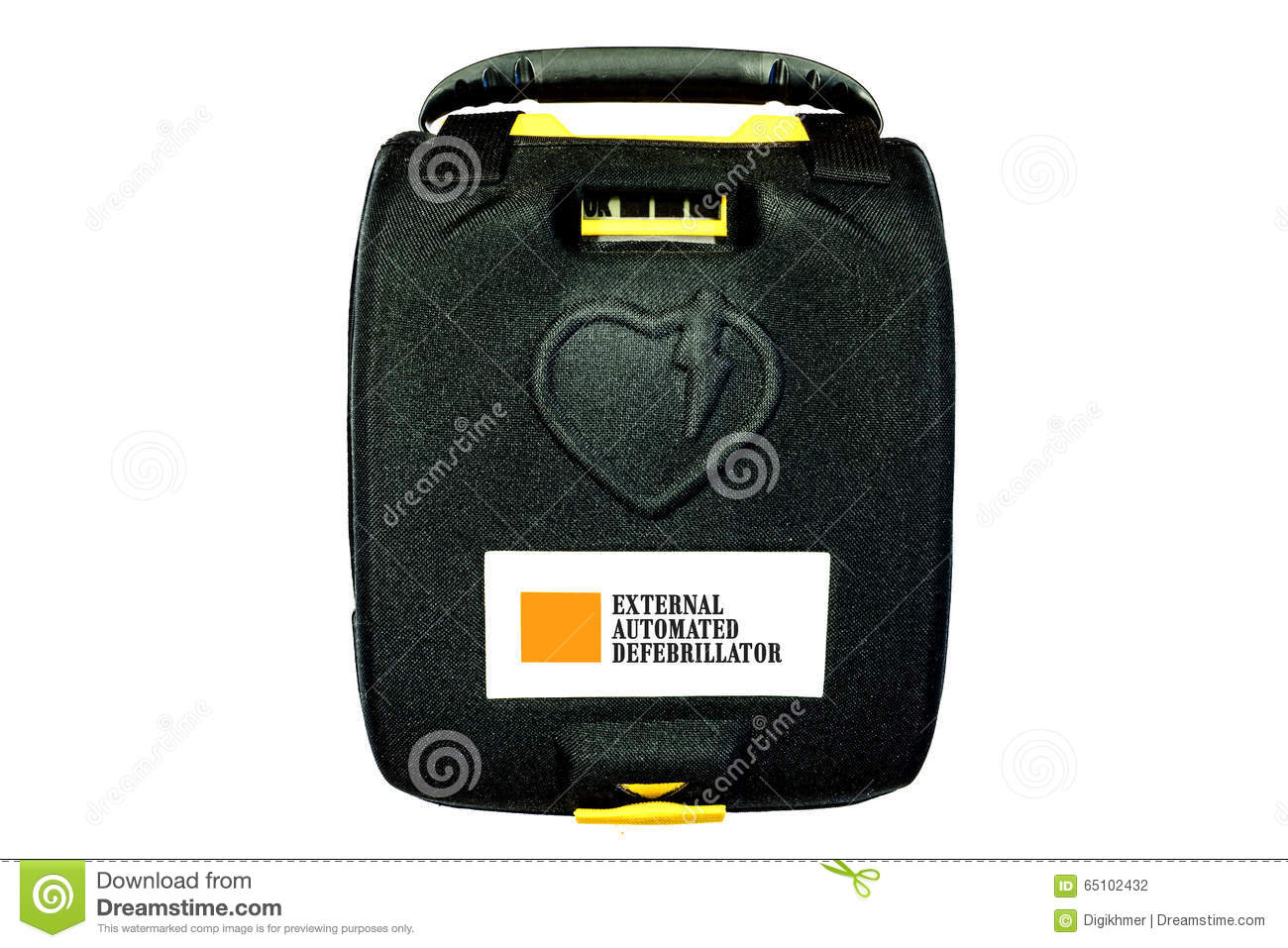 a description of automated external defibrillator Automated external defibrillator: a device that automatically analyzes the heart  rhythm and that'if it detects a problem that may respond to an electrical.