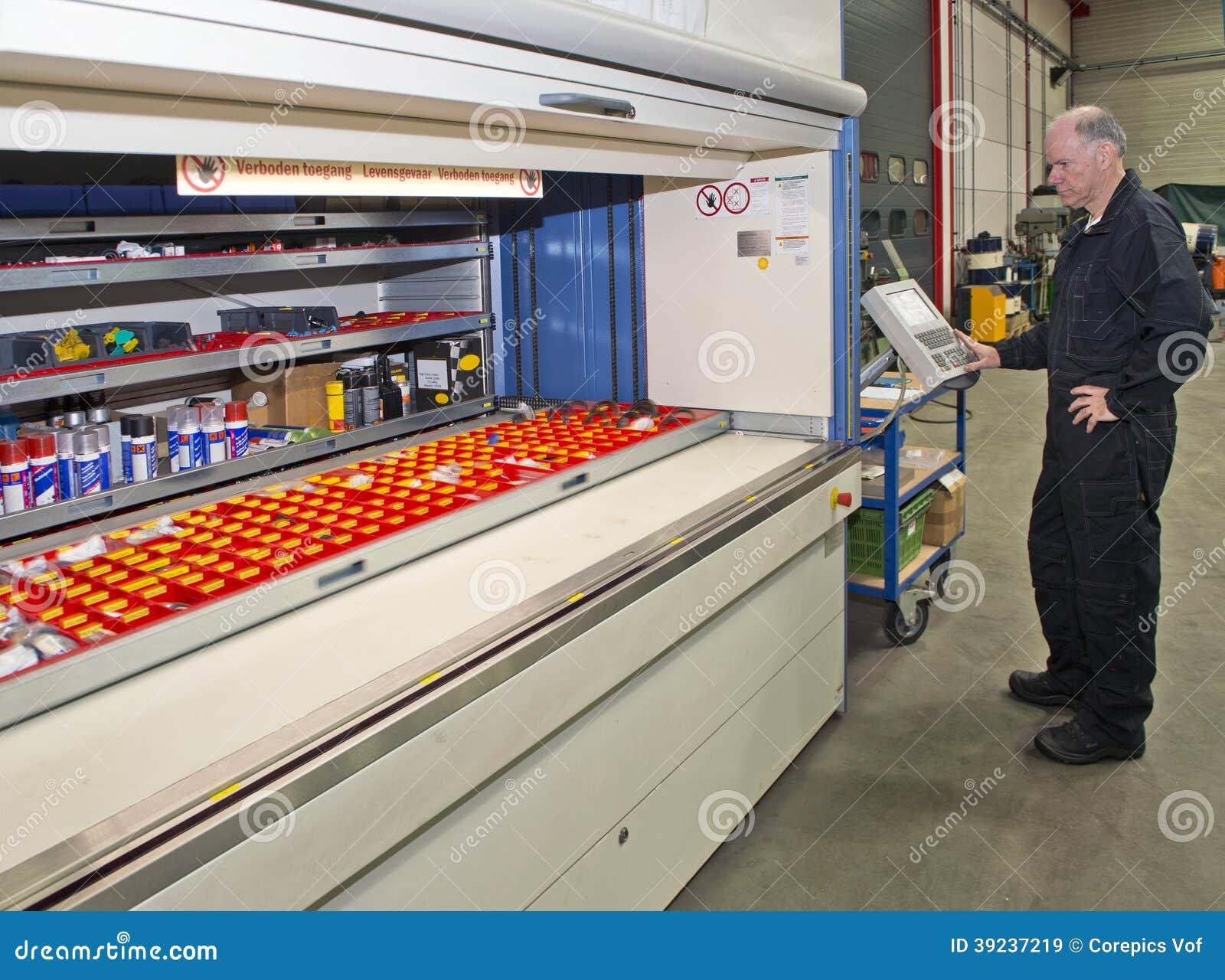 Automated storage cabinet stock image. Image of senior - 39237219