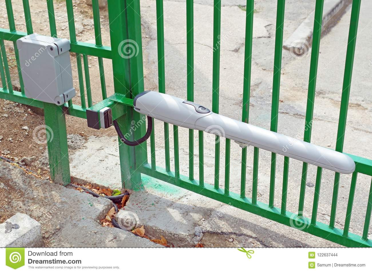 Automatic barrier gates stock photo  Image of equipment