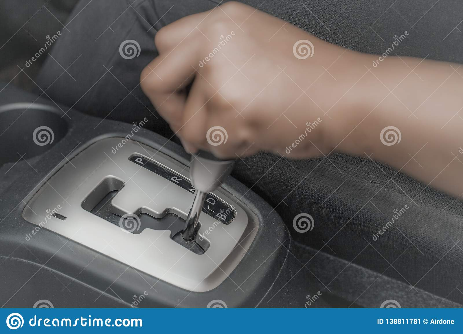 Automatic Car Gear Shift Transmission Stock Image - Image of