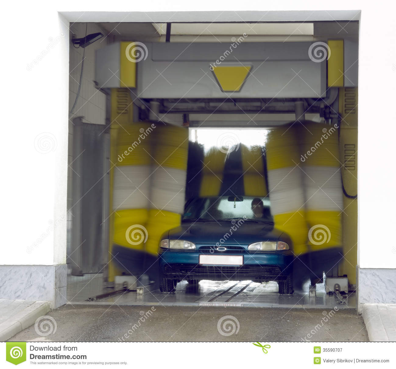 Automatic Car Wash Stock Image. Image Of Automatic