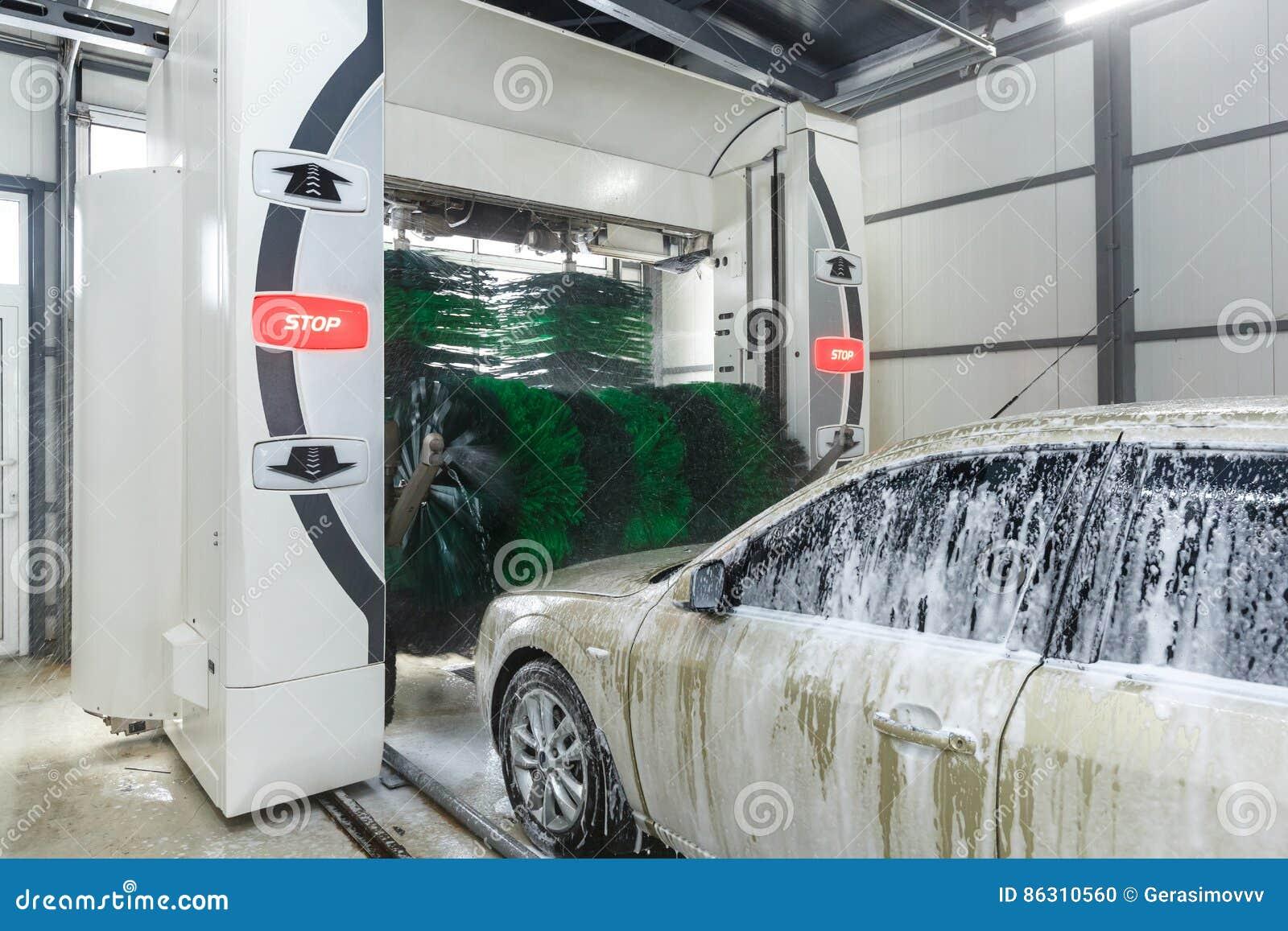Automatic car washing stock photo  Image of automatic - 86310560