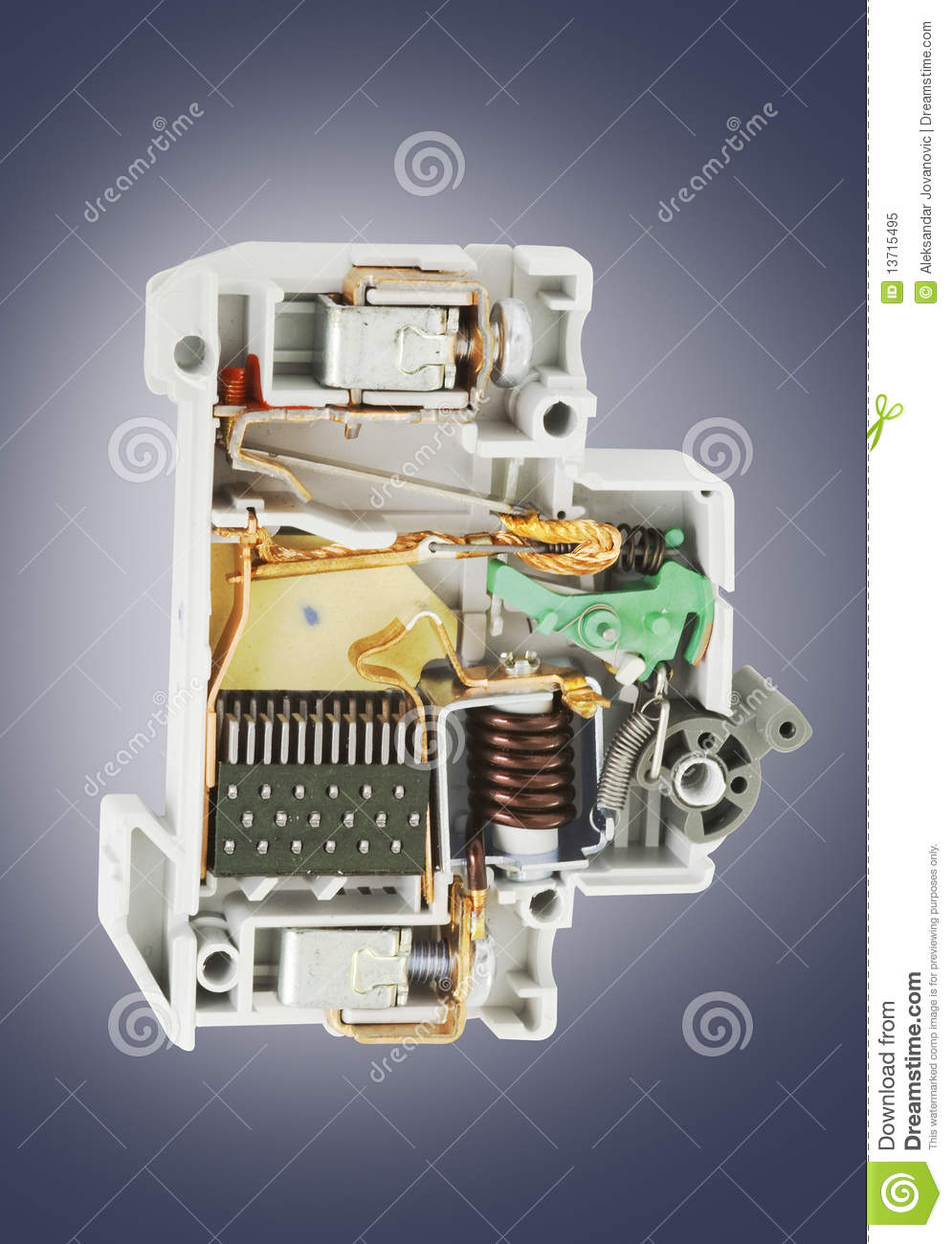 automatic circuit breaker cross section stock image image of rh dreamstime com