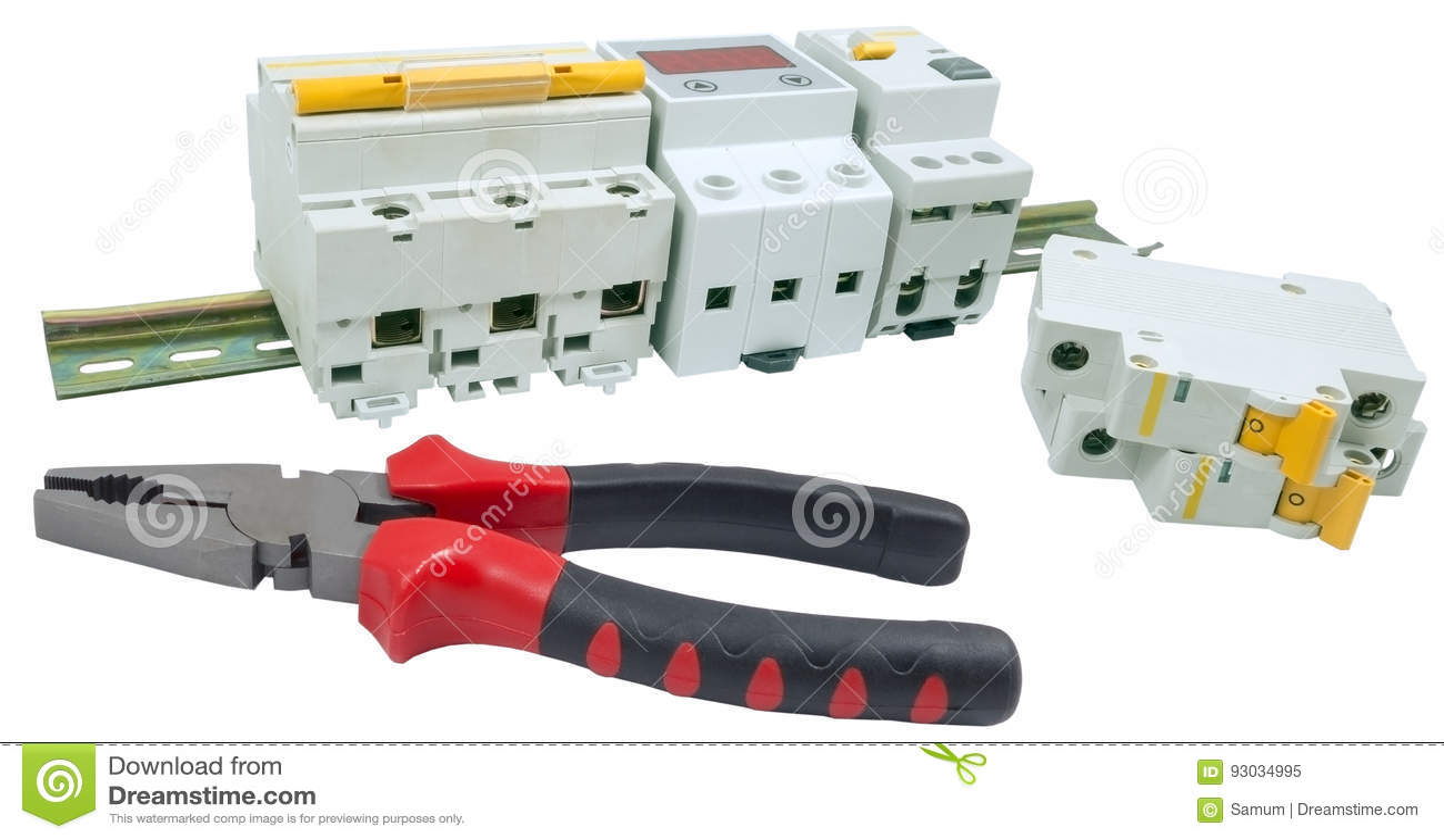 automatic circuit breaker stock image image of automatic 93034995 rh dreamstime com