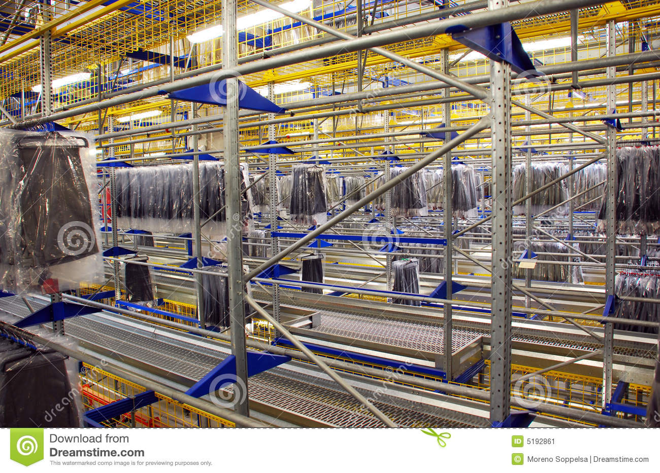 Automatic Clothing Warehouse Stock Image - Image: 5192861
