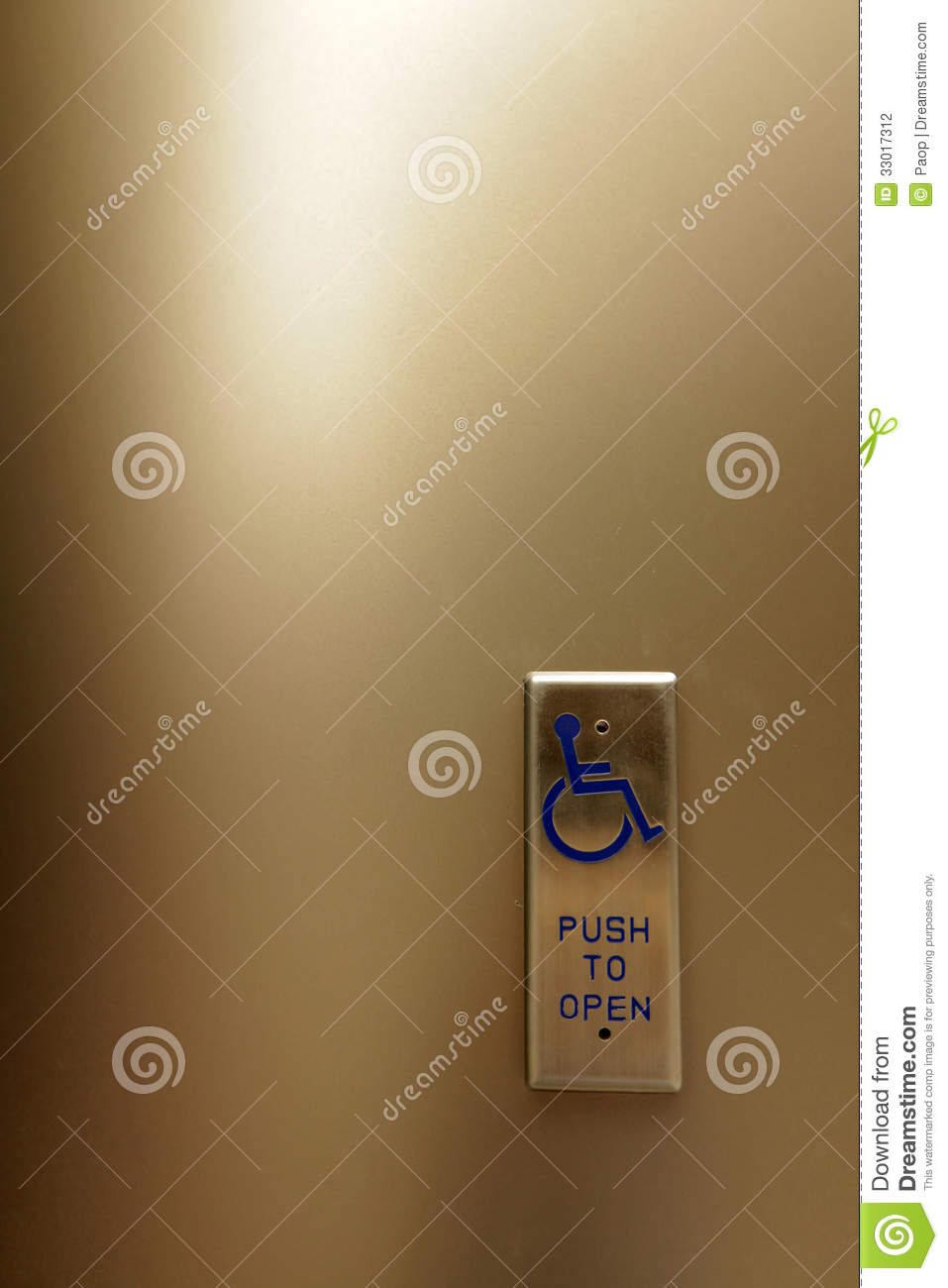Automatic Door Opener For Wheelchair Accessibility Stock