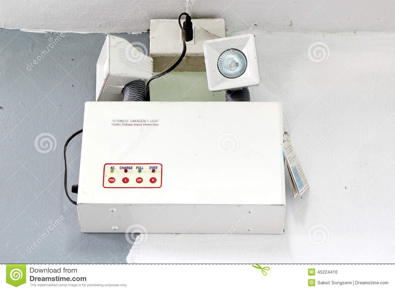 Automatic Emergency Ligth Stock Photo Image Of Install 45224410 Low Cost Ligh