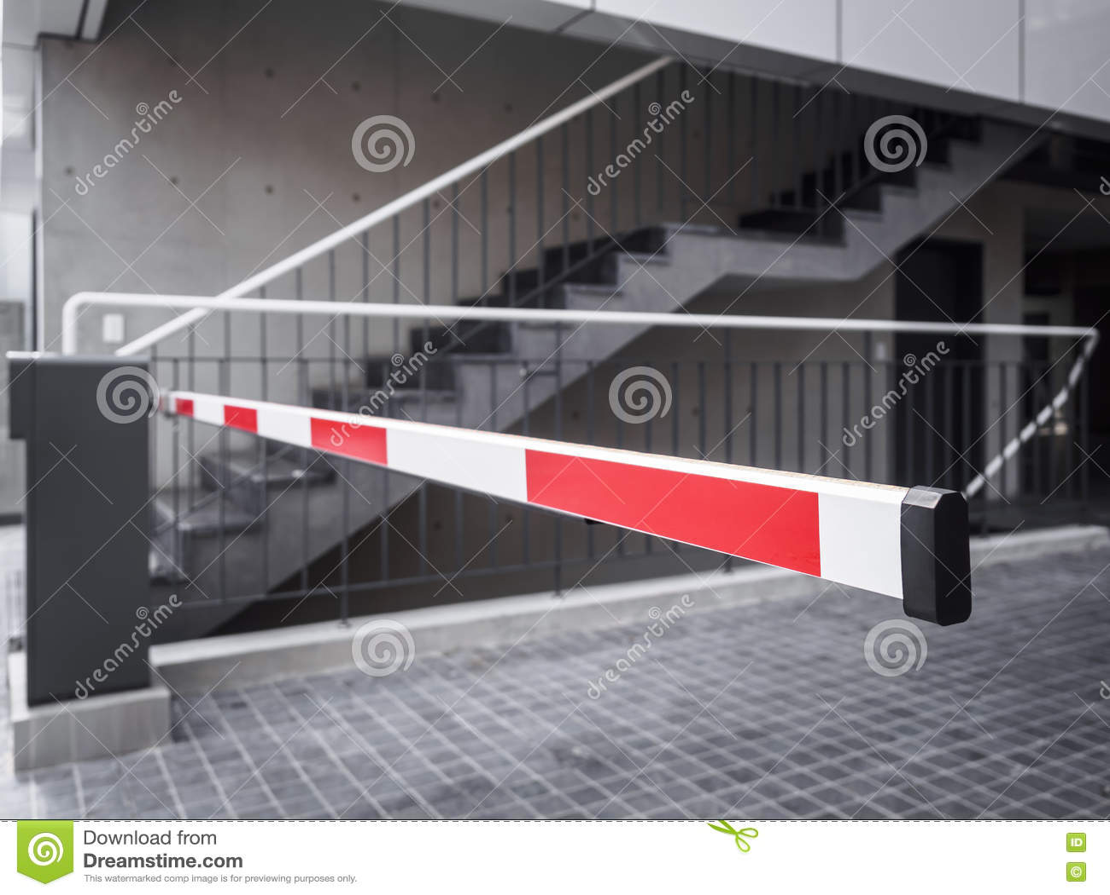 Automatic gate barrier parking lot building entrance