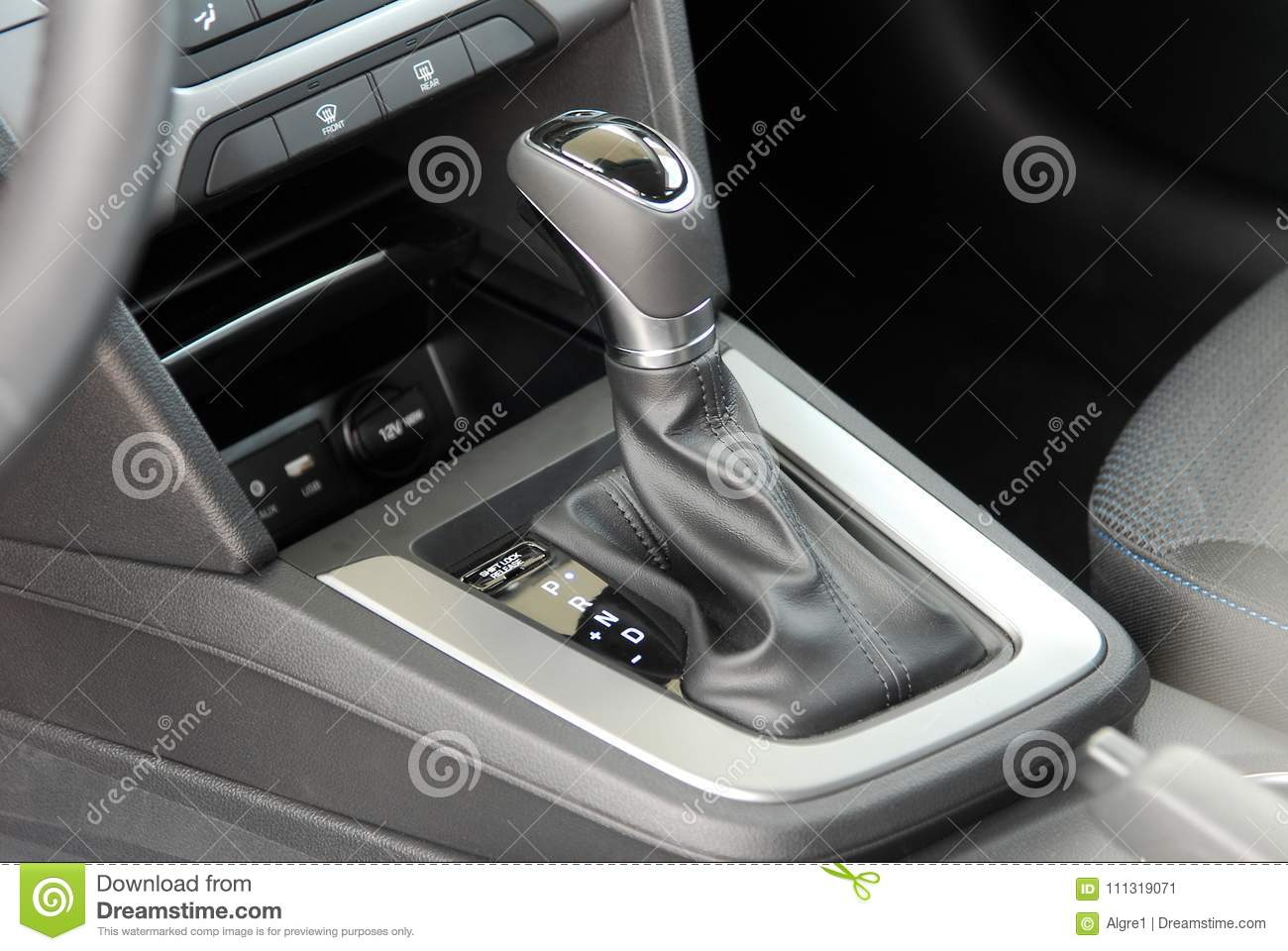 Automatic gear shift stock image  Image of emergency - 111319071