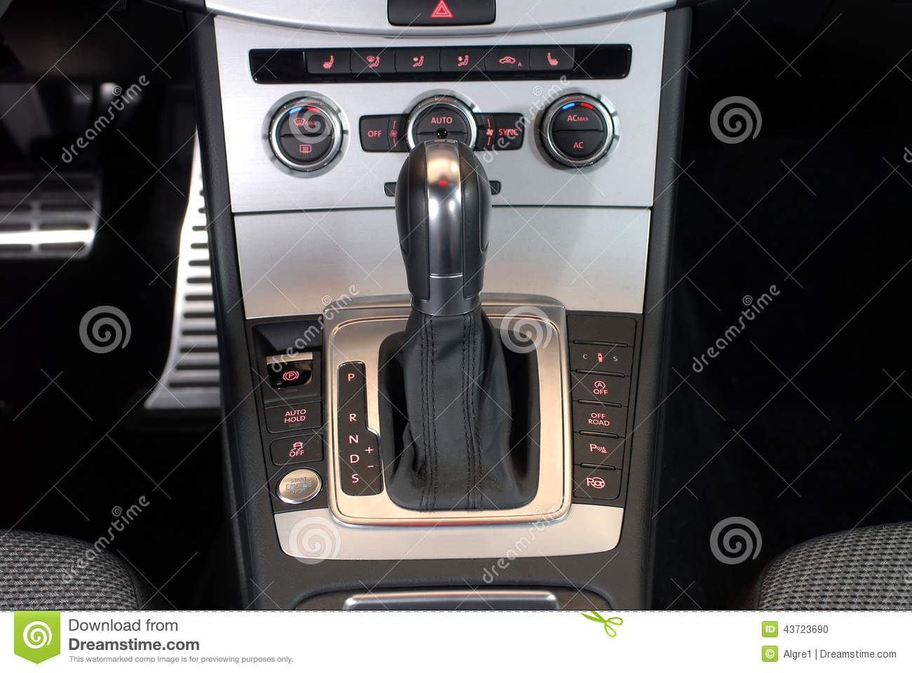 Automatic gear shift handle