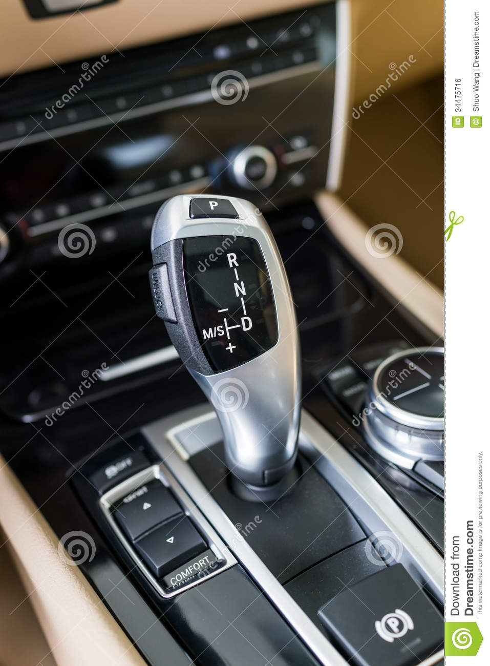 automatic gear shift handle royalty free stock image image 34475716. Black Bedroom Furniture Sets. Home Design Ideas
