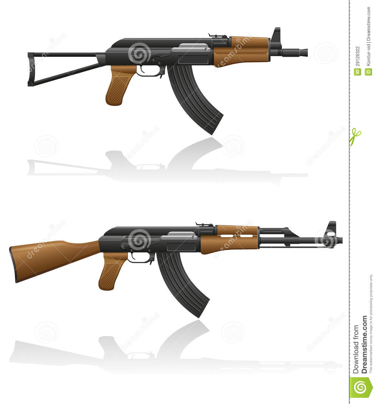 automatic machine ak 47 kalashnikov stock photography image 29126322. Black Bedroom Furniture Sets. Home Design Ideas