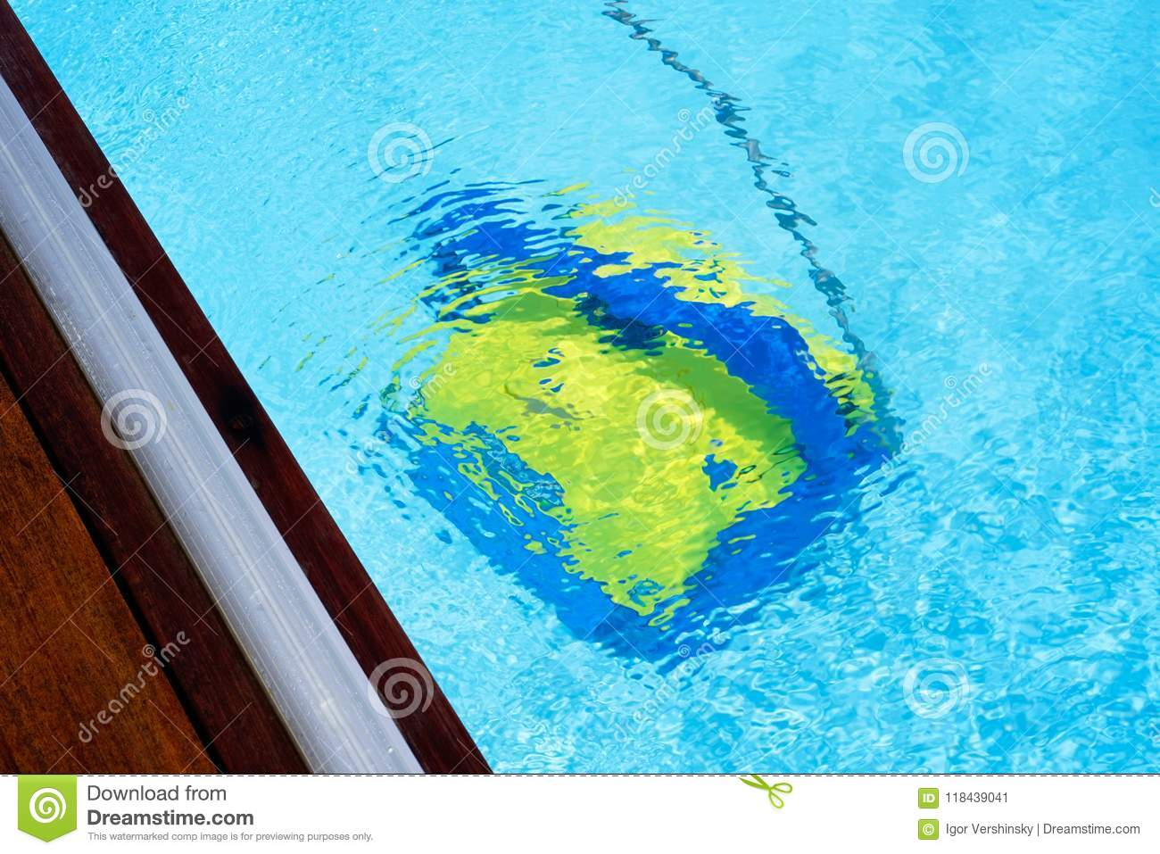 Automatic pool cleaners. stock image. Image of blue - 118439041