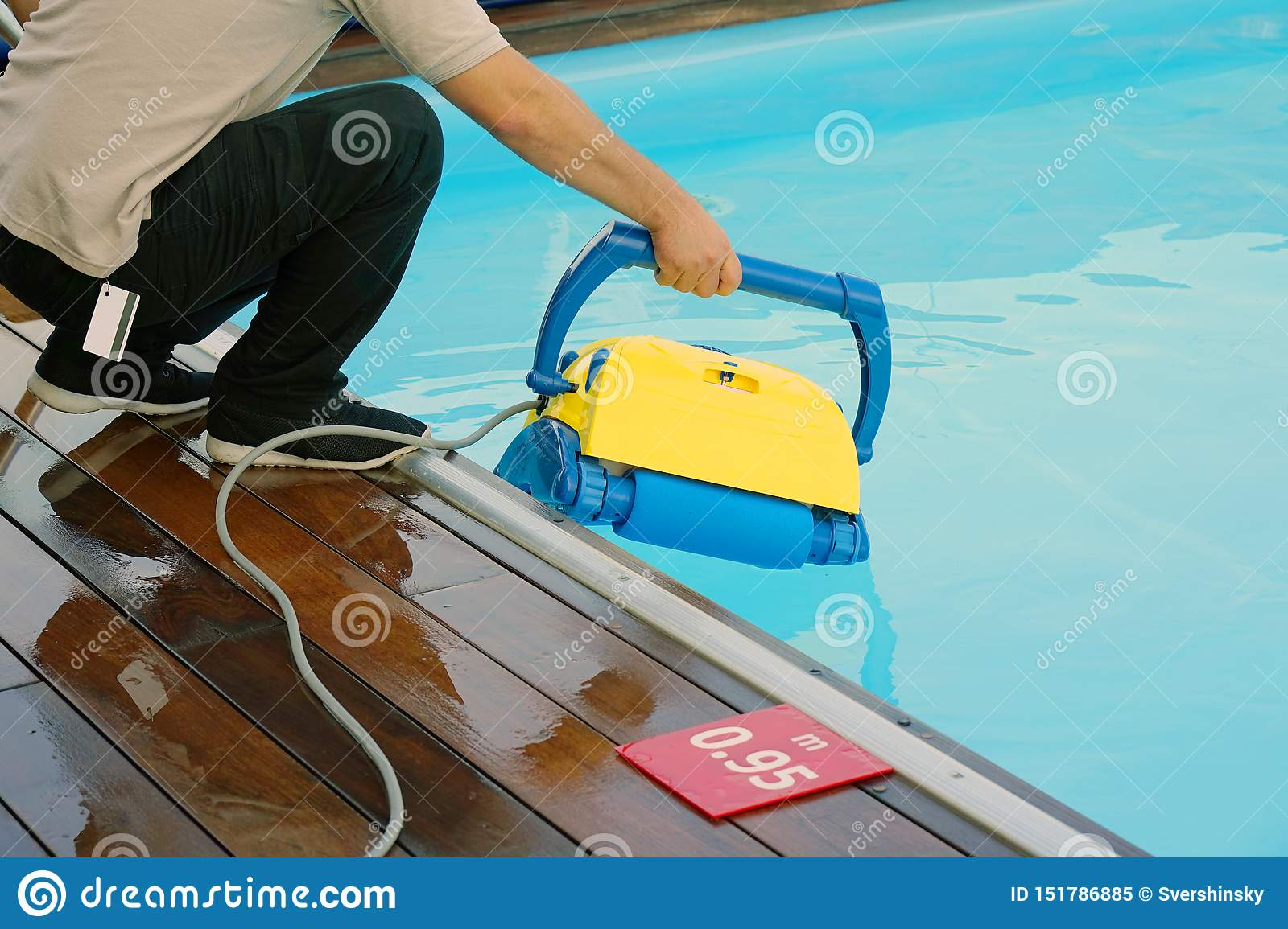 Automatic pool cleaners stock image. Image of equipment ...
