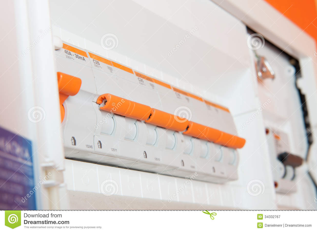 Automatic Stock Image Of Equipment Electronic 34332767 House Fuse Box A Small