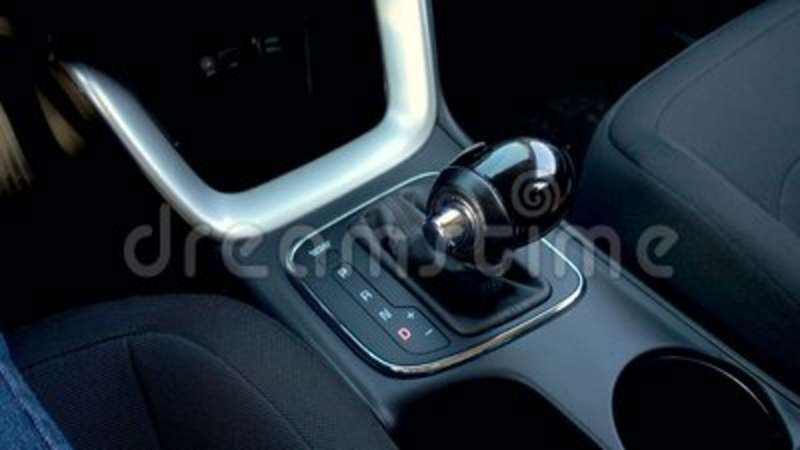Automatic transmission, automatic gear shift  Shift knob in car